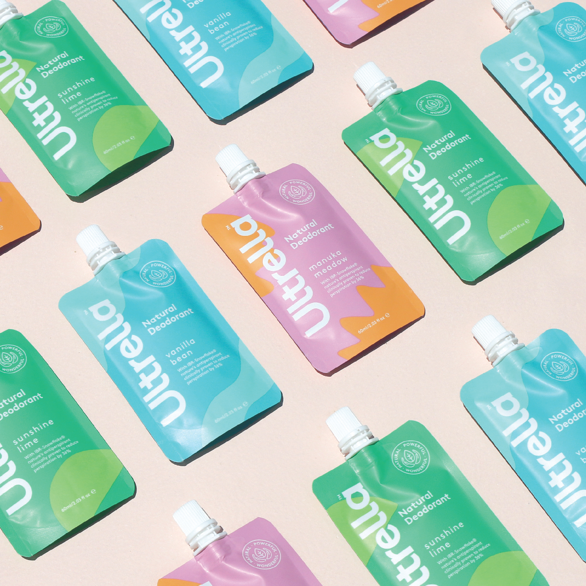 Fresh and Playful Branding for Ultrella Natural Body Products