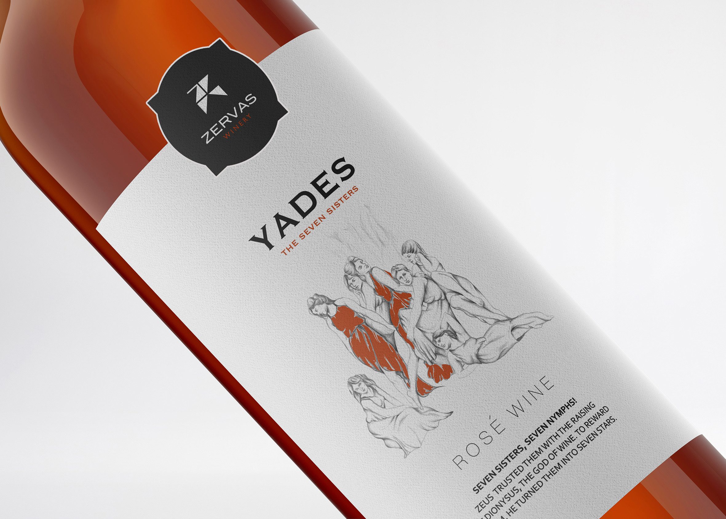 Packaging Design for White, Red and Rose Yades Wines