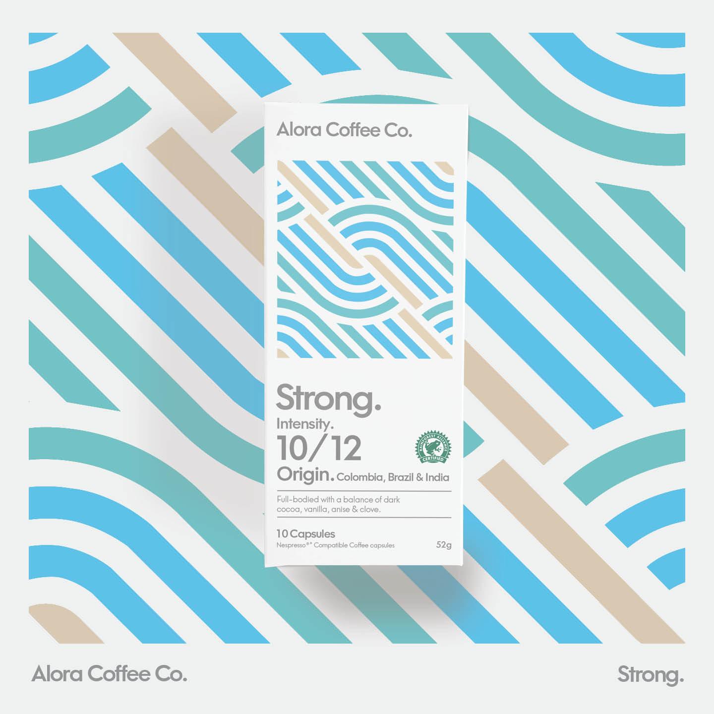 Alora Coffee Co Capsule Packaging and Branding