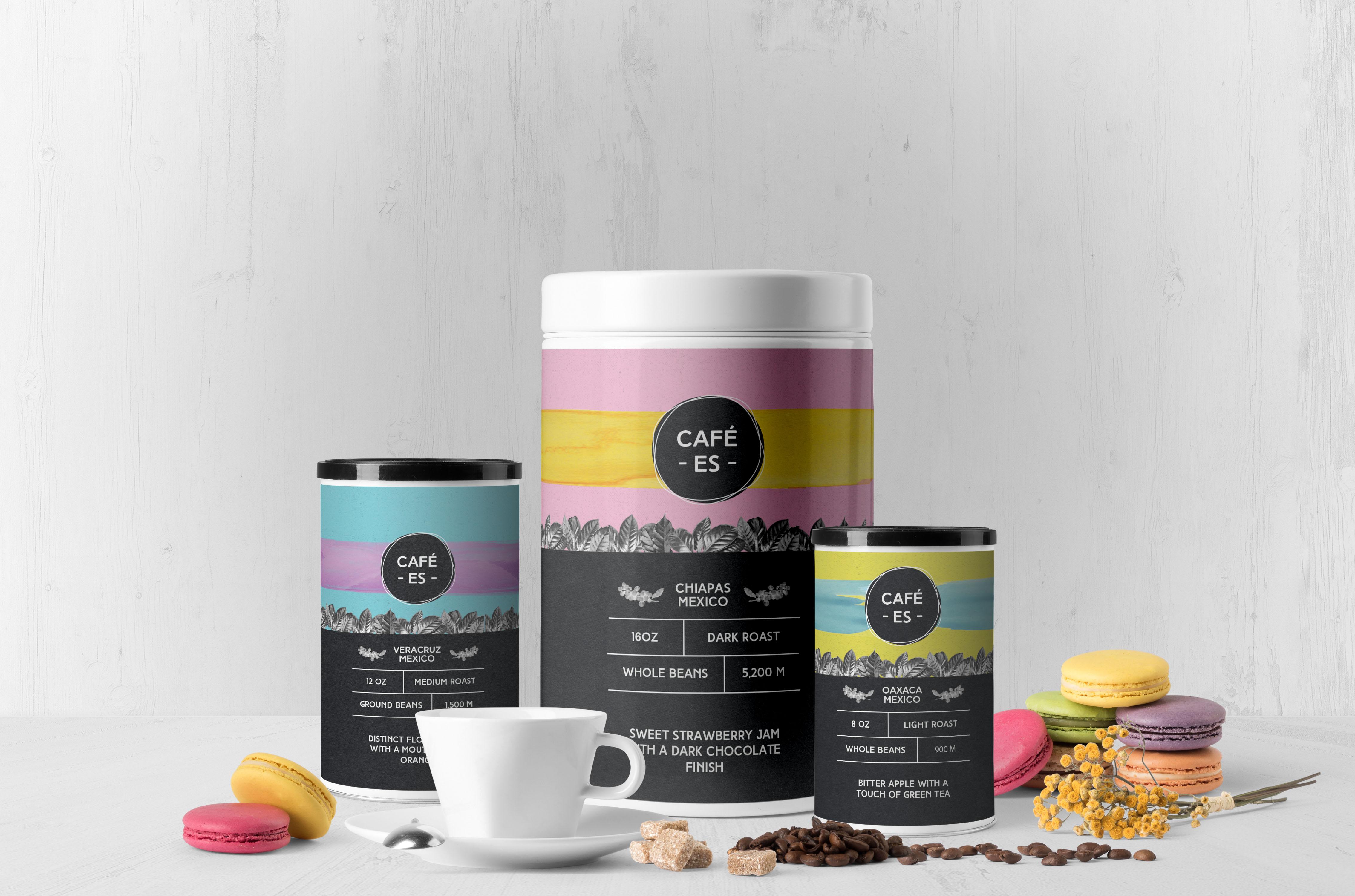 """""""Café-Es"""" Mexican Gourmet Coffee Branding"""