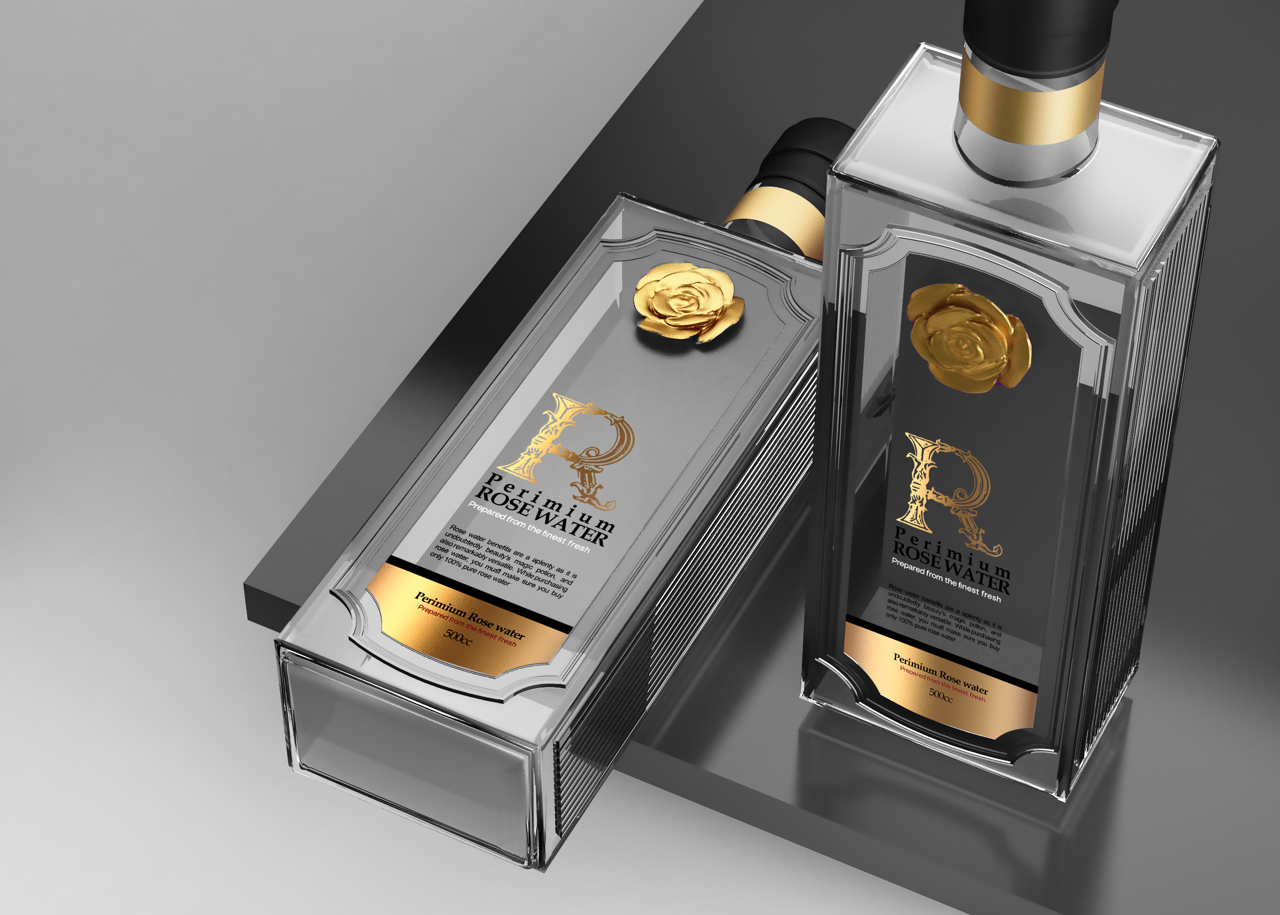 Rosewater Bottle Design