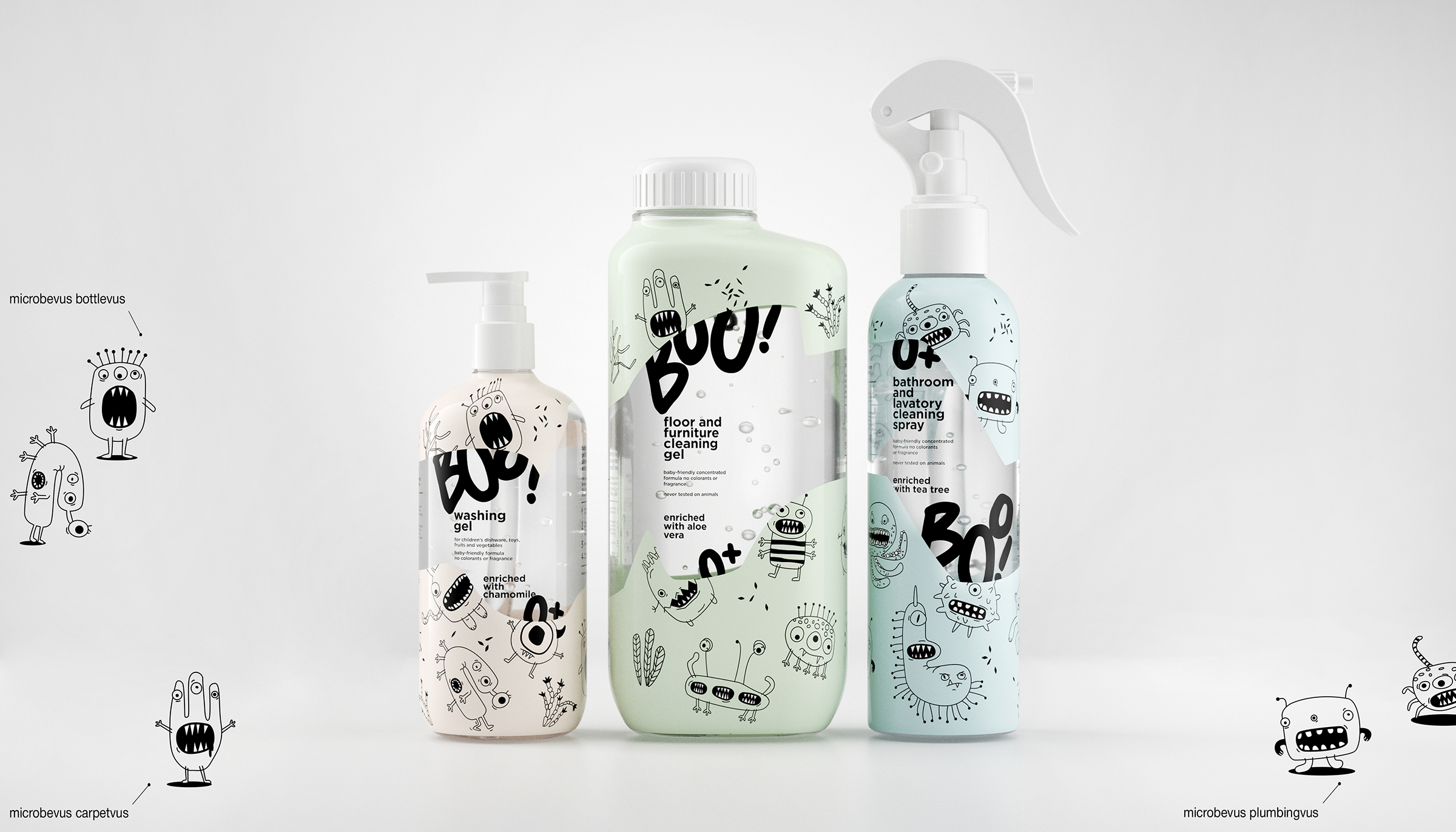 Brand Design for Sanitising Cleaning Products for Children and Babies
