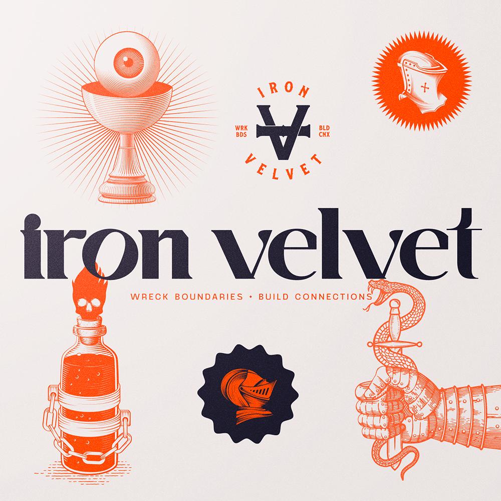 Iron Velvet Identity for French Digital Studio