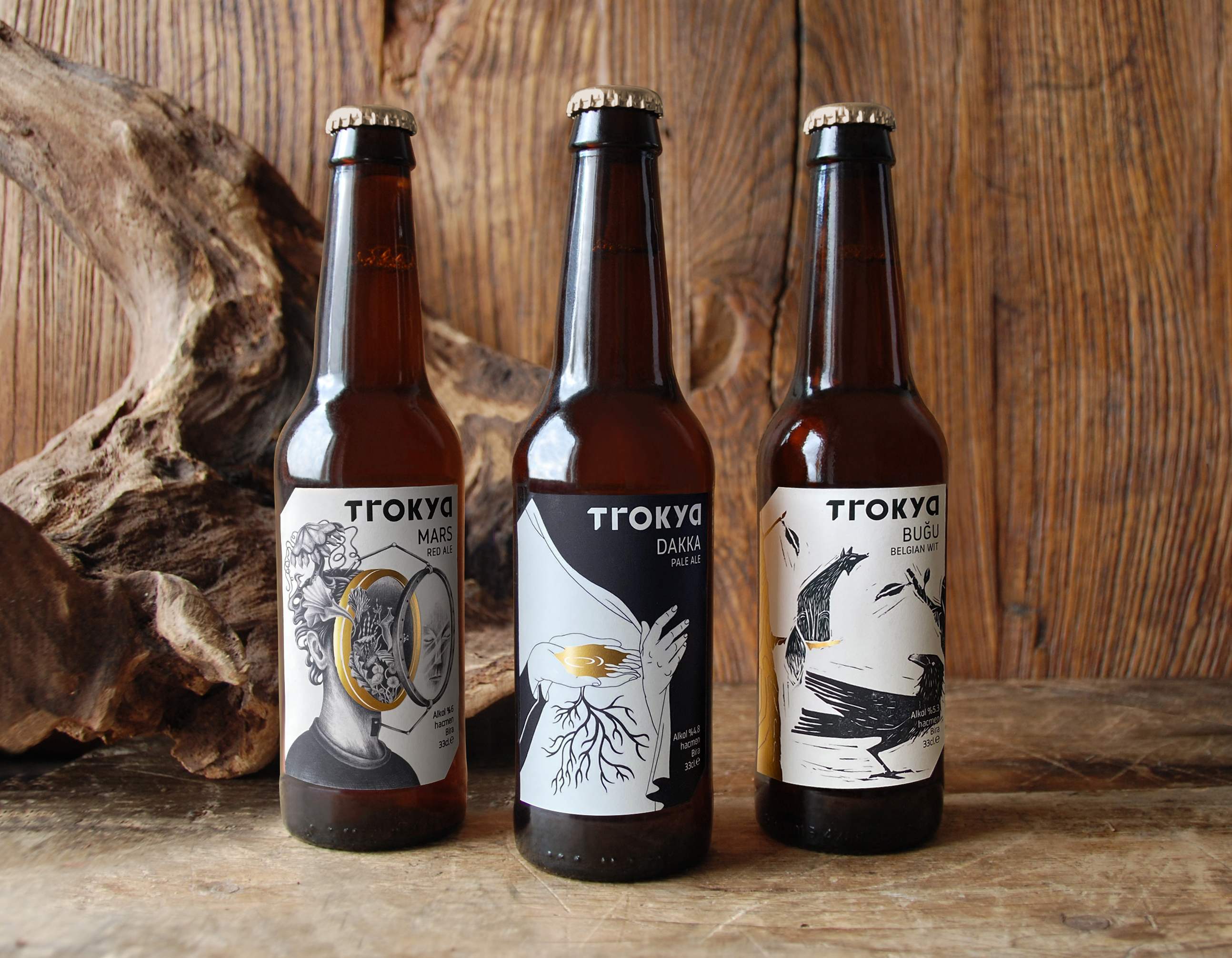 Trokya Beer Packaging and Brand Identity by Pata Studio
