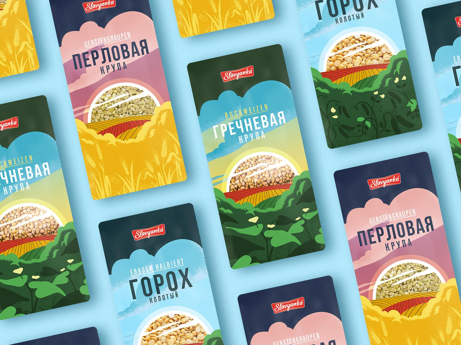 Slavyanka Cereals Packaging