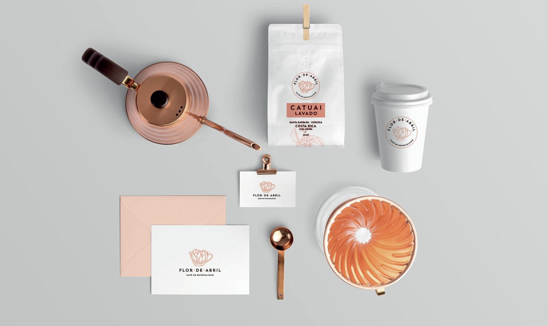 Flor de Abril Coffee Packaging Design