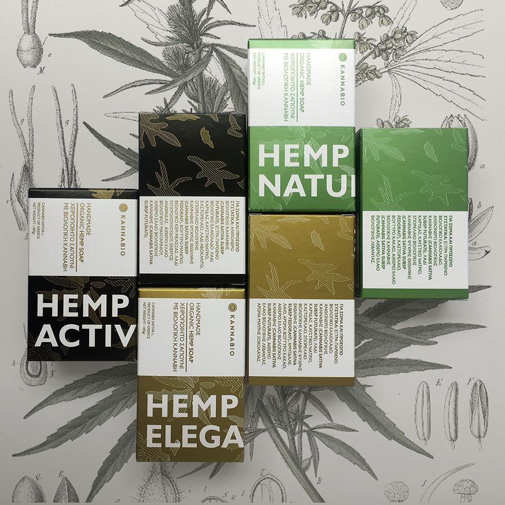 Organic Hemp Soap packaging and Branding Designed for Kannabio Coop.