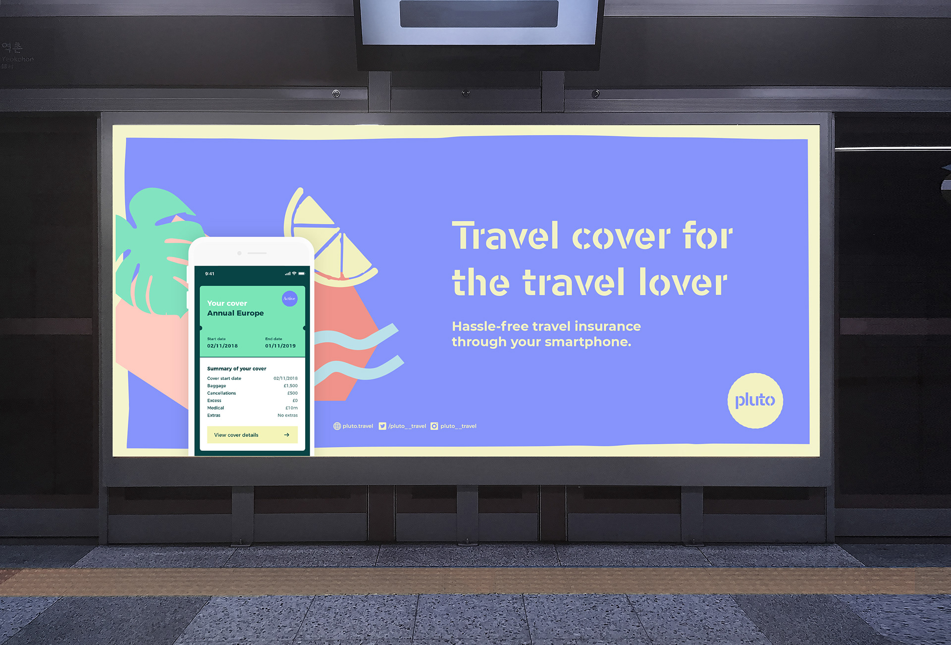 Brand, Advertising and Digital Deliverables for Travel Cover for the Travel Lover