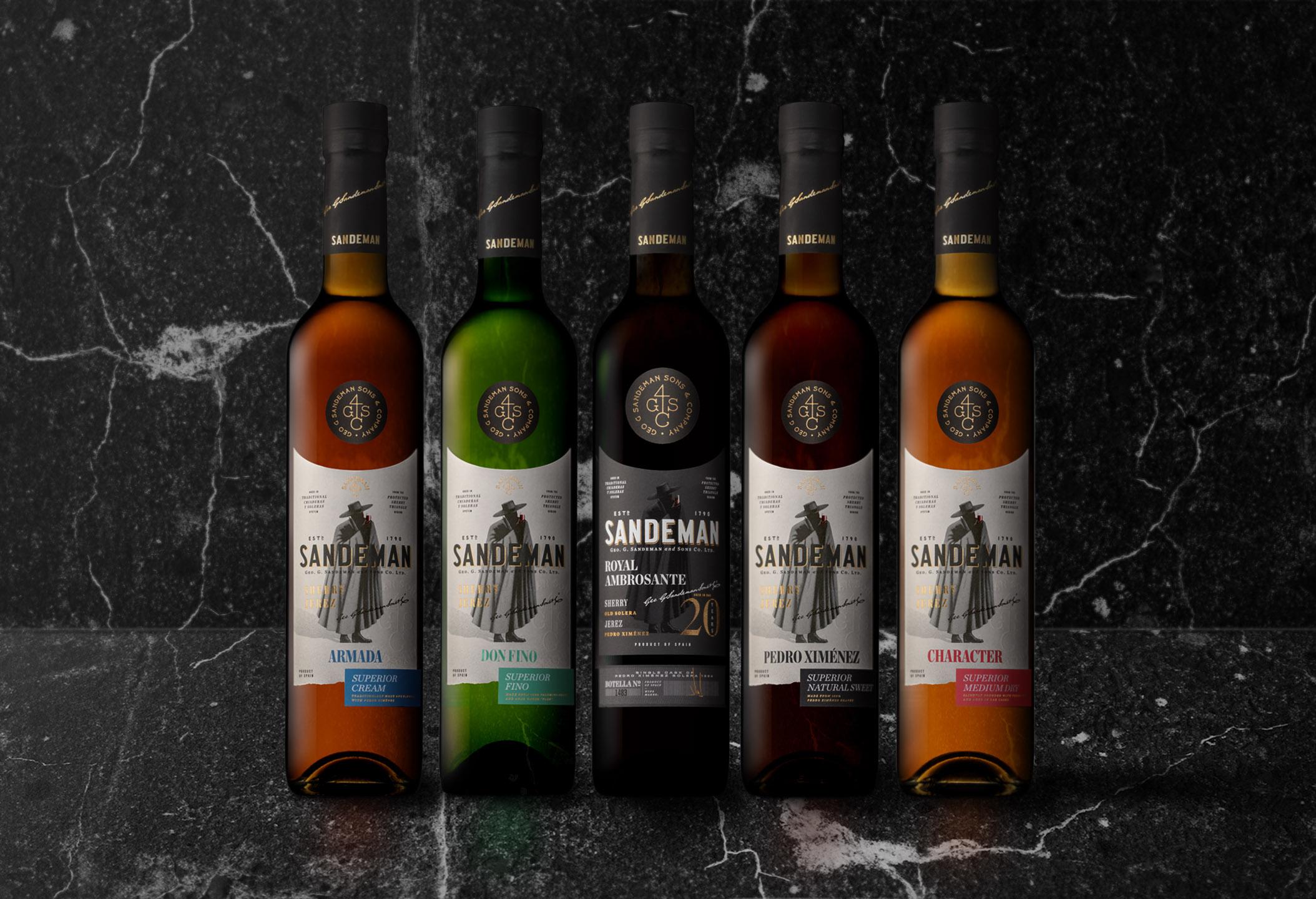 VOLTA Designs Sandeman's Premium and Rare Sherry Wines