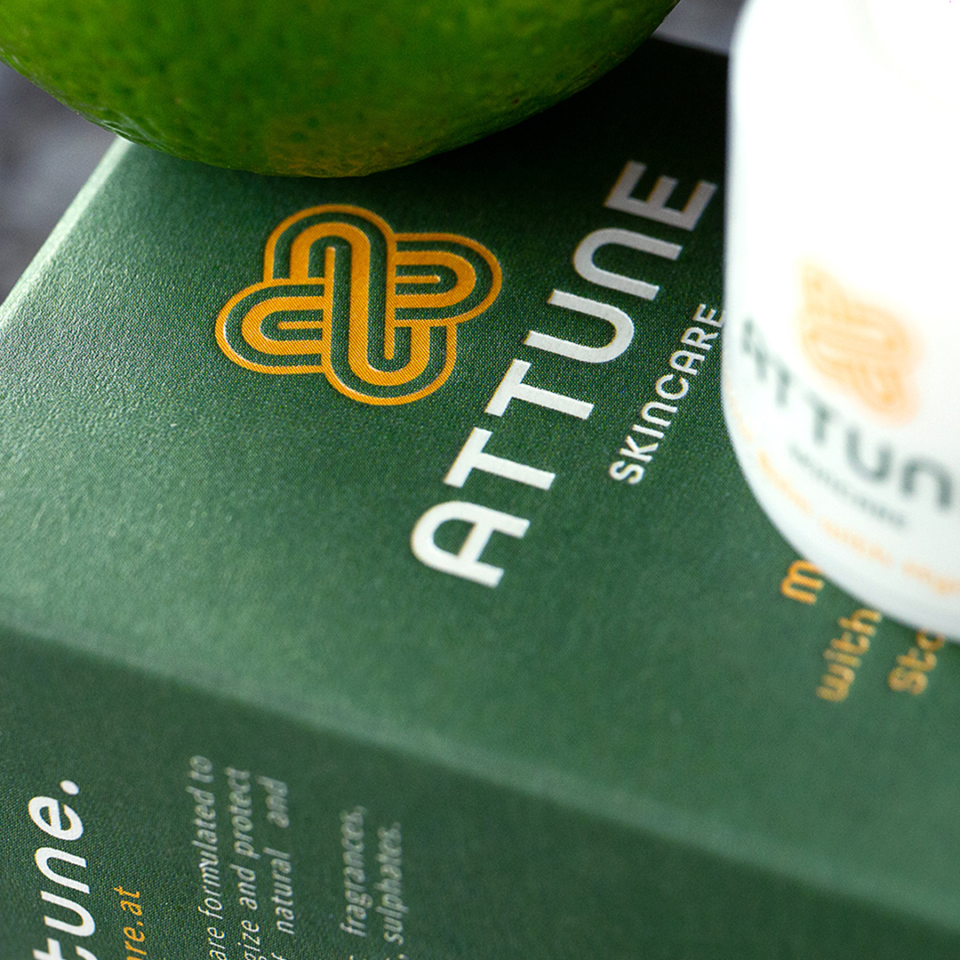 Branding and Packaging design for Attune Skincare