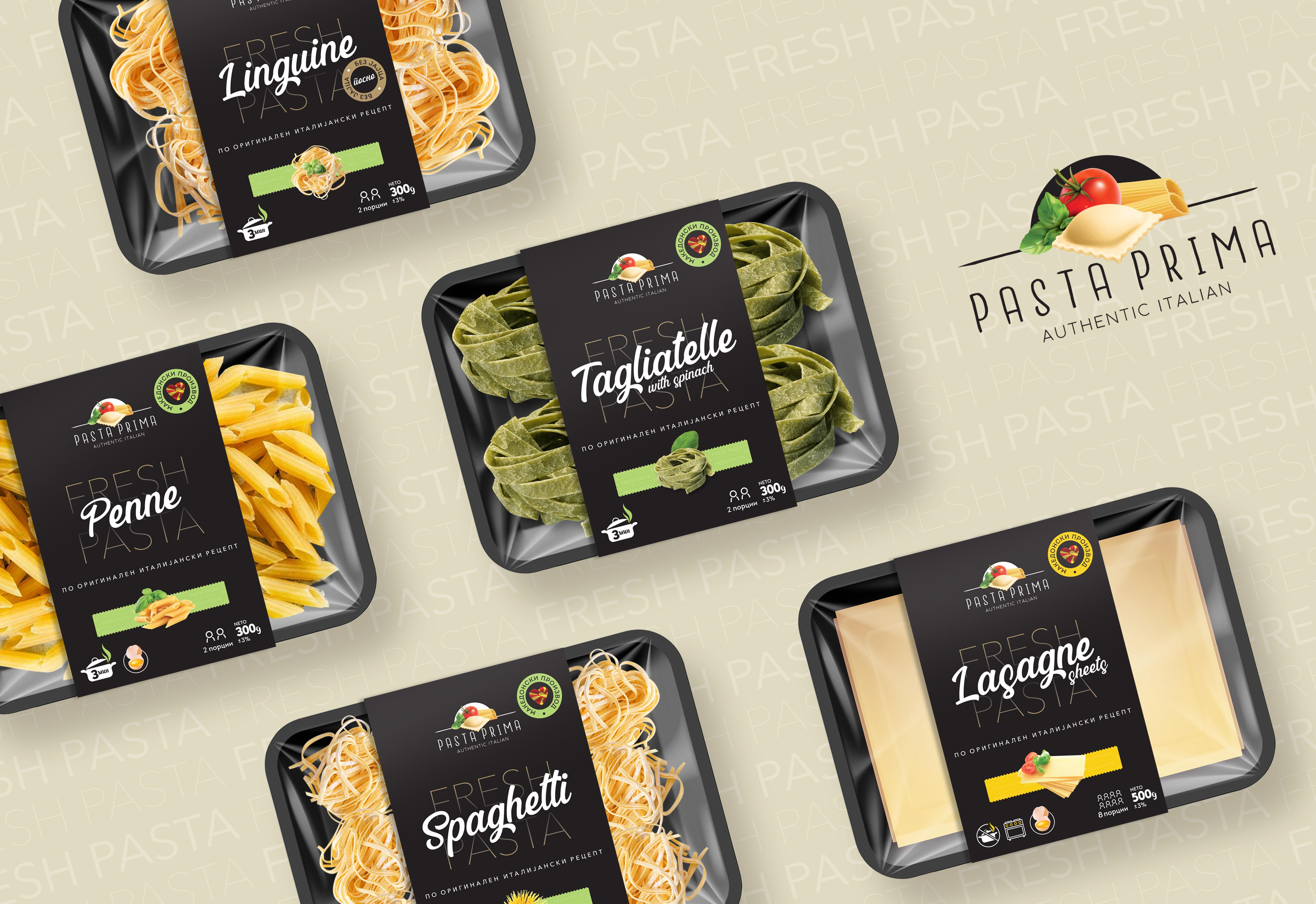 Packaging Design for Home-Made Fresh Pasta