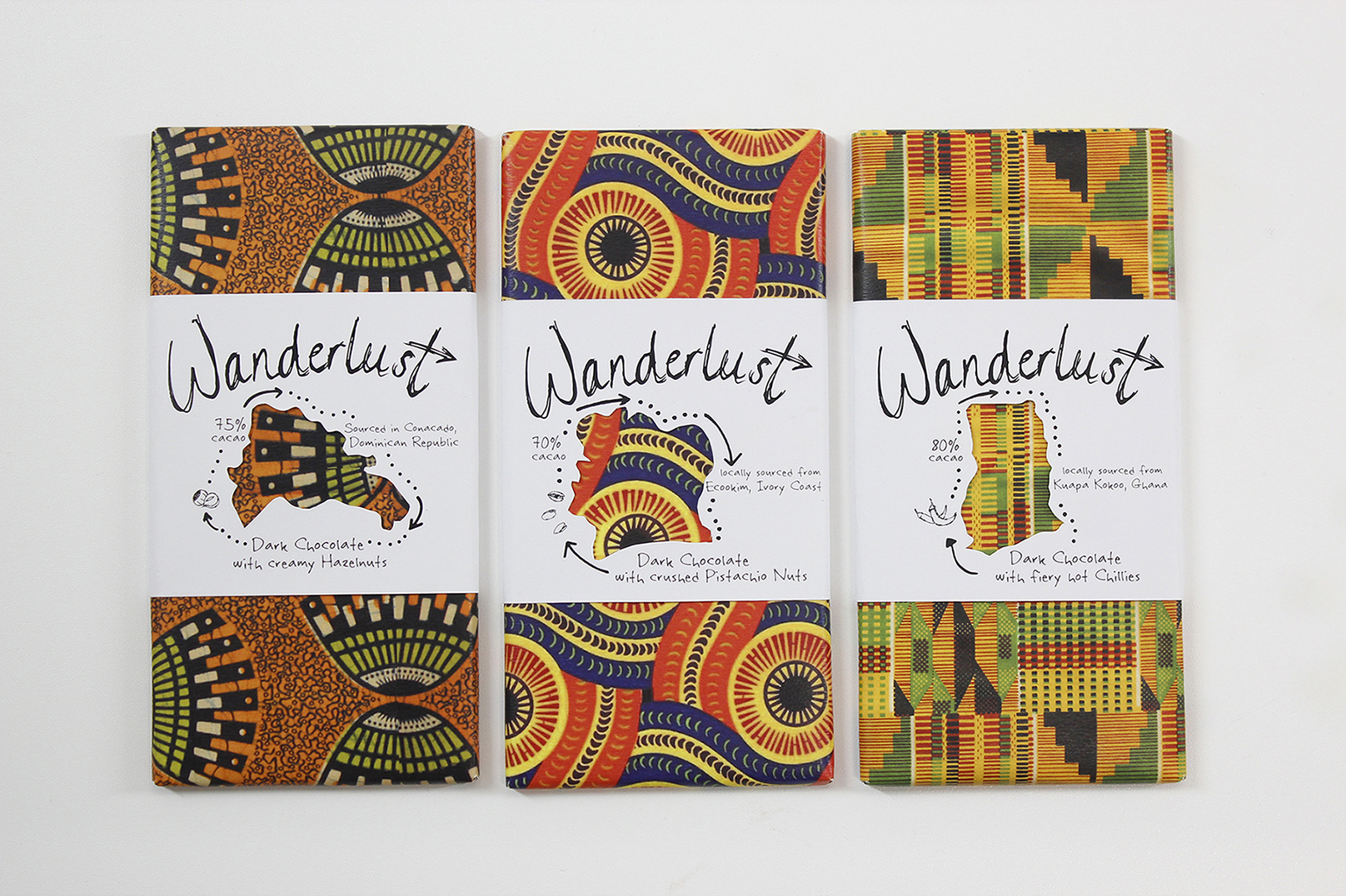 Student Concept for Wanderlust Fairtrade Chocolate
