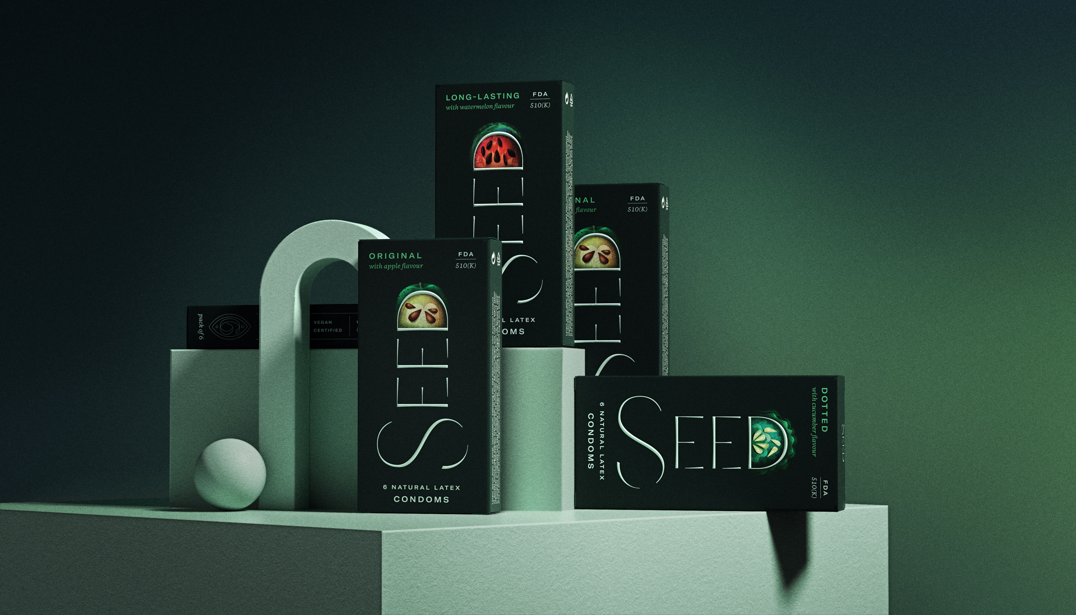 Seed condoms Brand and Packaging Design