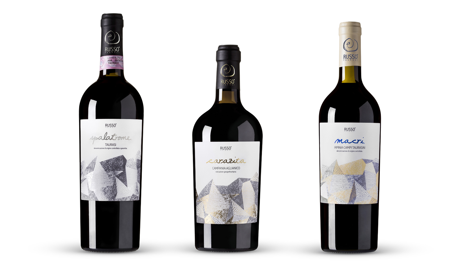 Cantine Russo Taurasi Wine Label Redesign