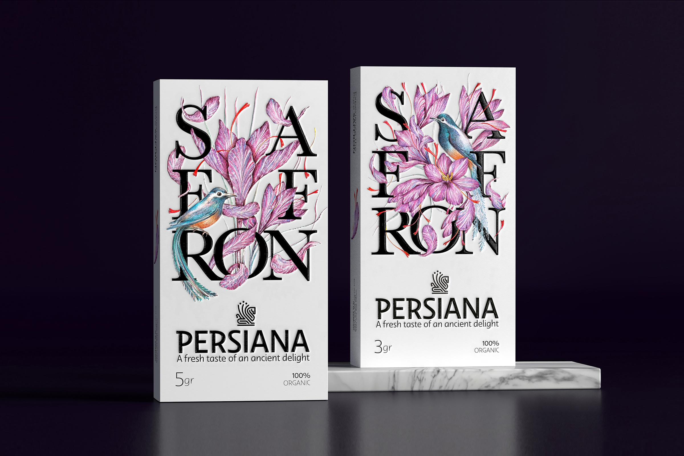 Packaging Design for Persiana Saffron Brand