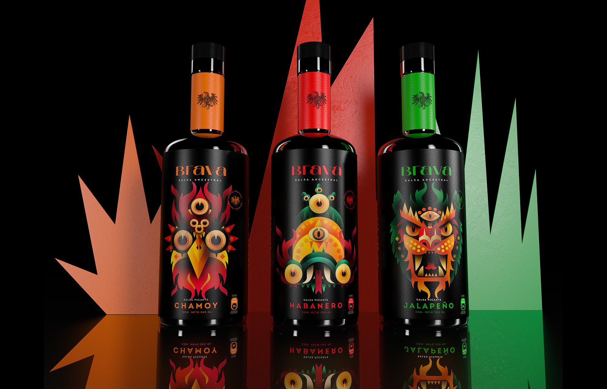 Mystical Sauces Full of Fire – Strategy for the Brand and Packaging Line for Brava
