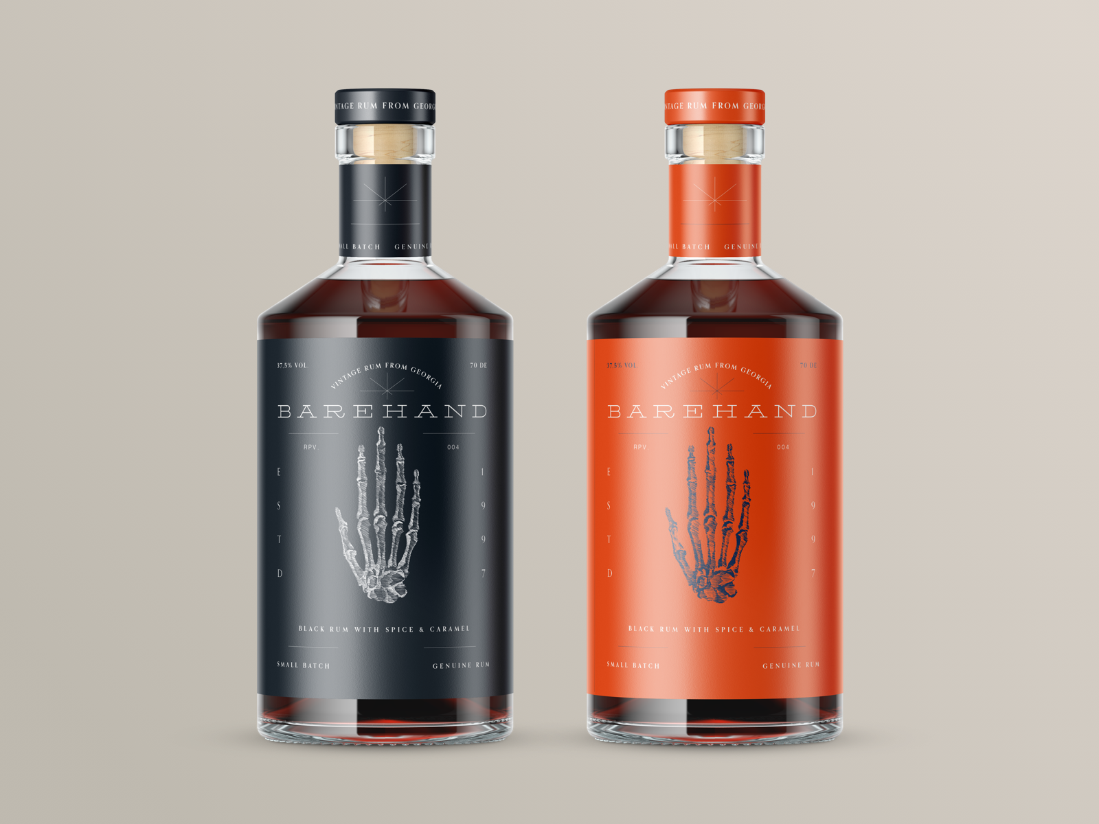 BoldMonkey Creates New Label Design for Barehand Rum