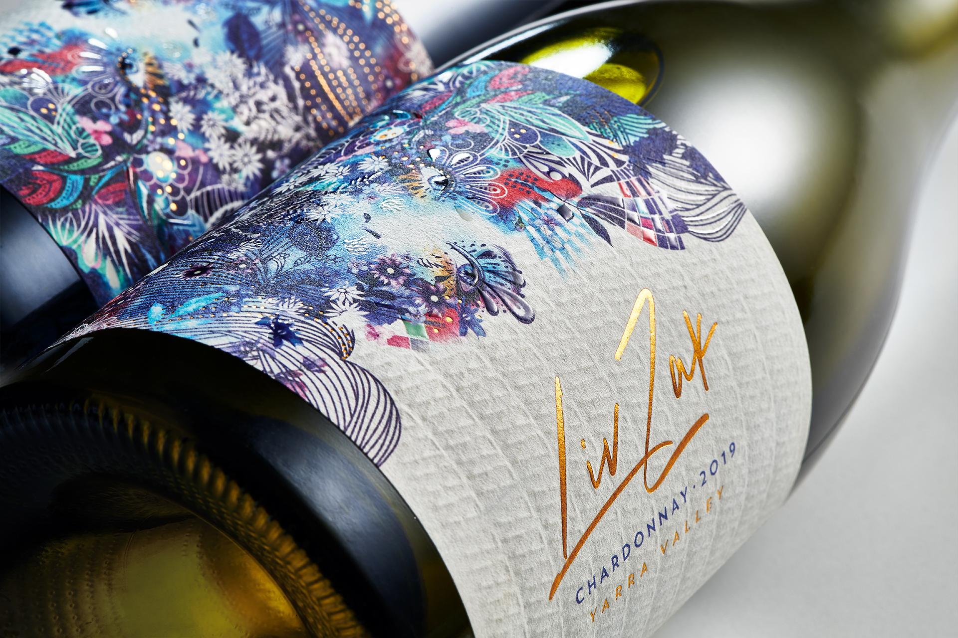 Vibrant and Expressive Liv Zak Wine Labels
