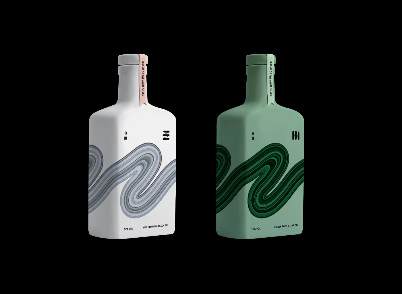 Gin Visual Design for Legend Of The White Snake Concept