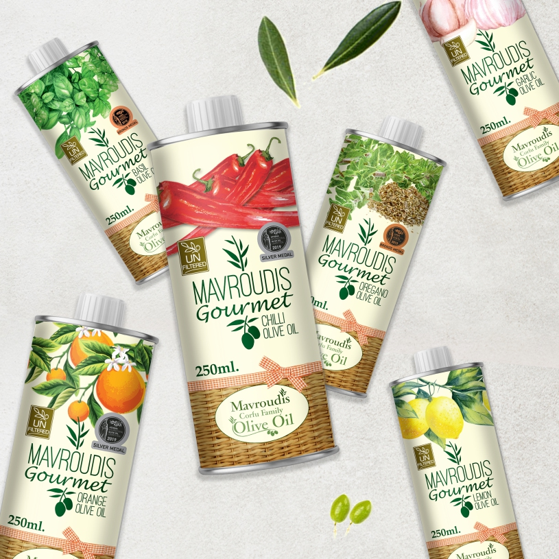 Mavroudis Corfu Family Gourmet Olive Oil Packaging Design