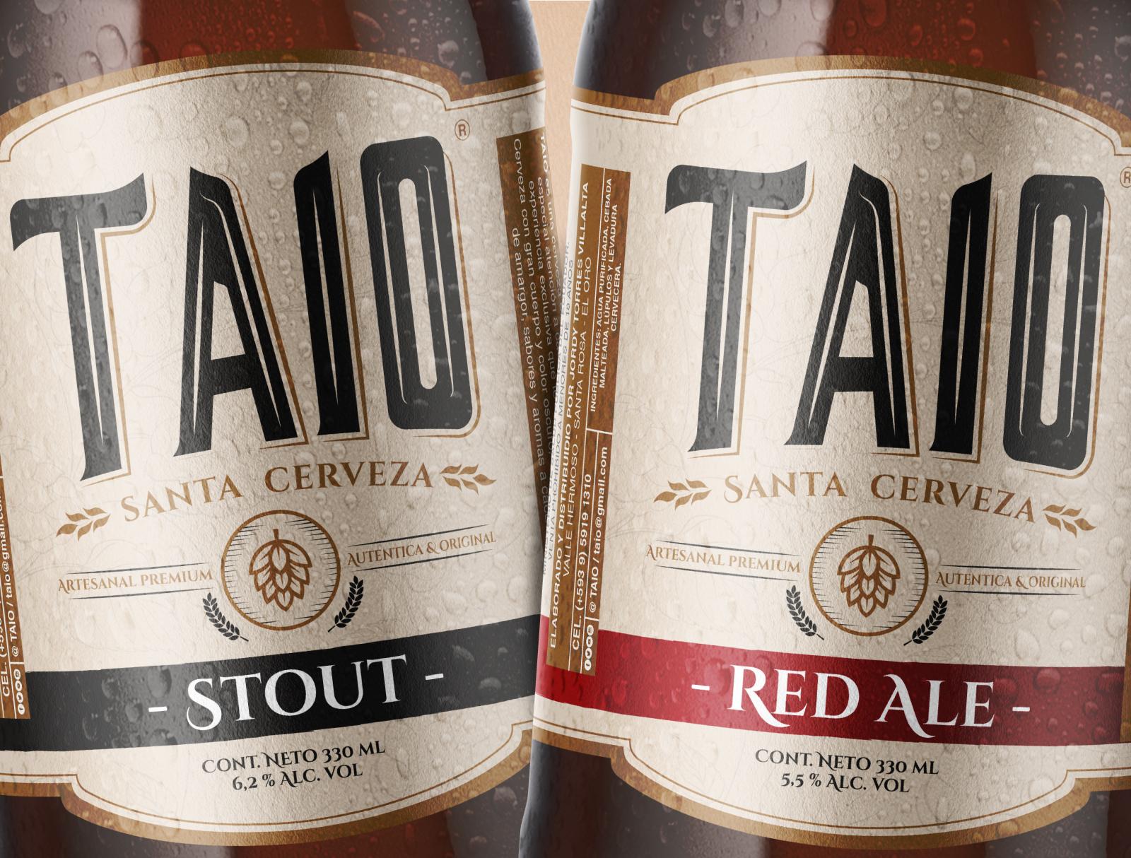Diseño de Etiqueta de Cerveza Taio