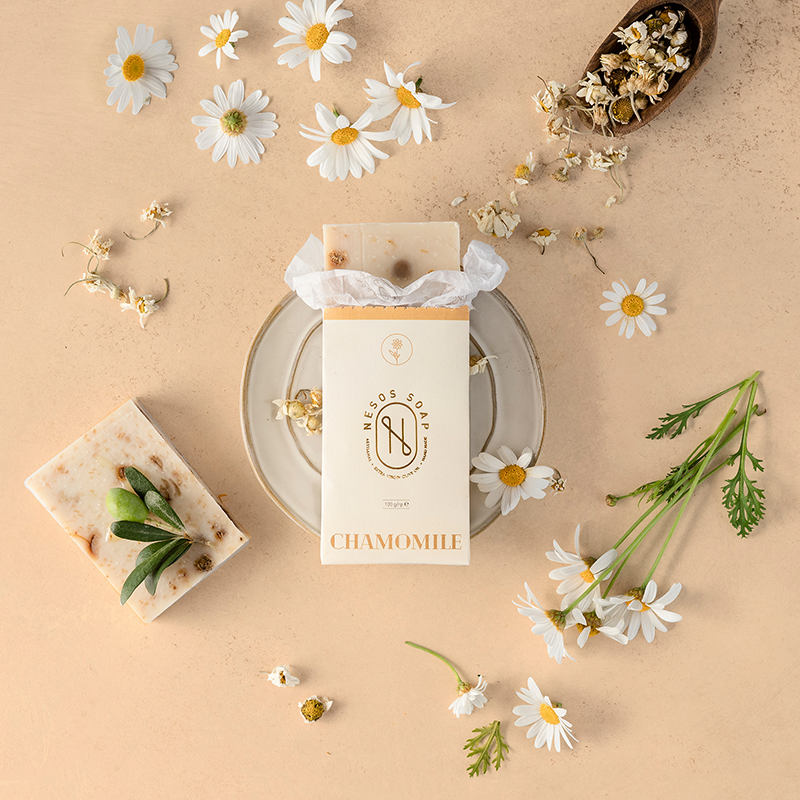 Nesos Soap Brand Identity and Packaging Design