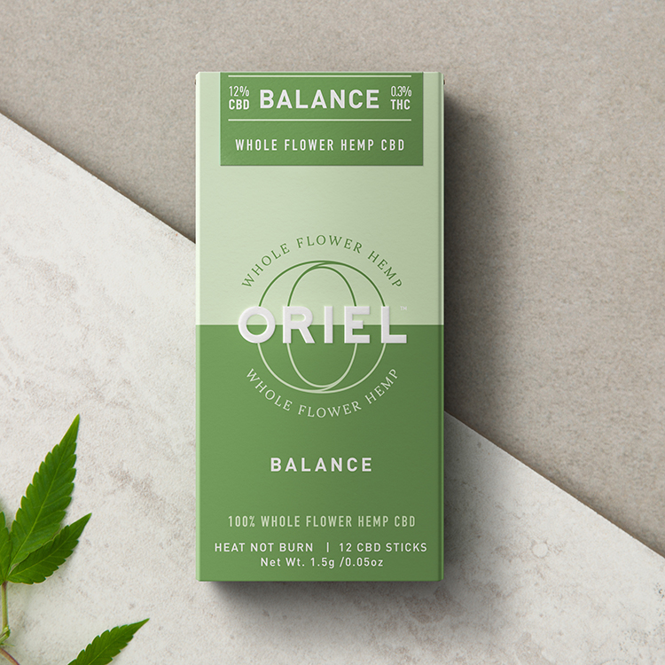 Brand Identity and Packaging Design for Oriel Whole Flower CBD Sticks