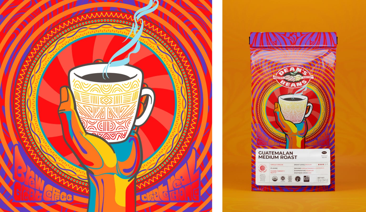 Packaging Refresh for Dean's Beans Coffee