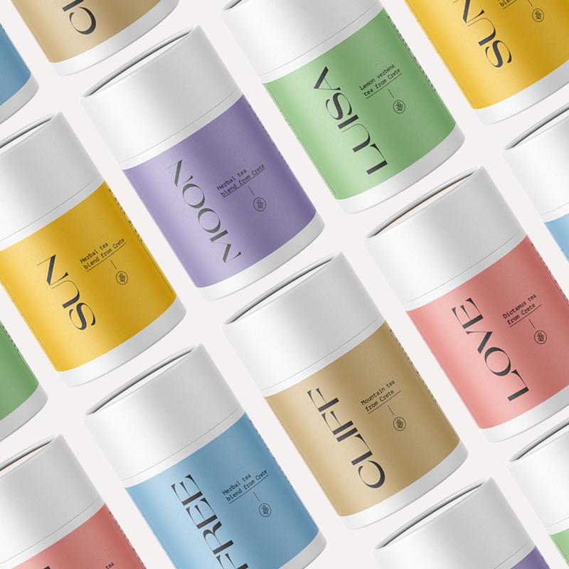 Teas and Trees Herbal Tea Package Design