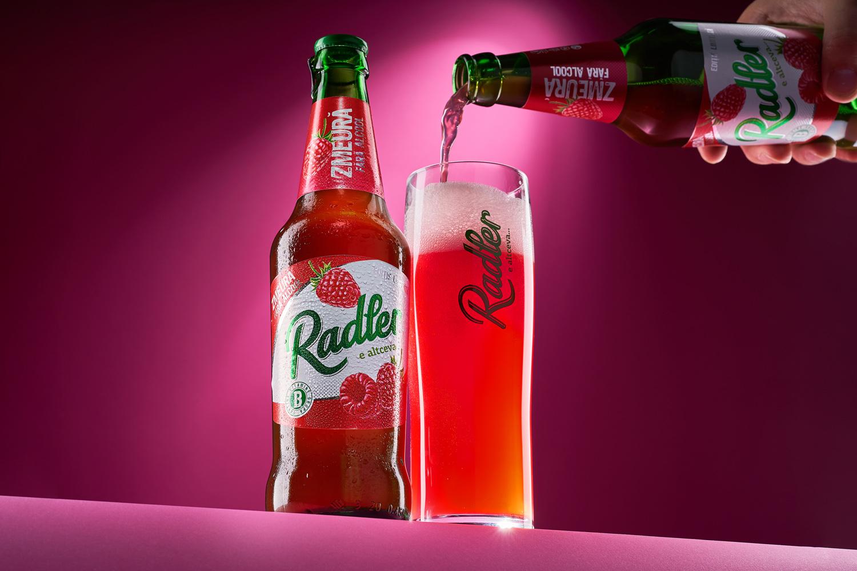 43oz.com Design Studio Design Soft Drink Label Design for Efes Moldova's Radler Raspberry