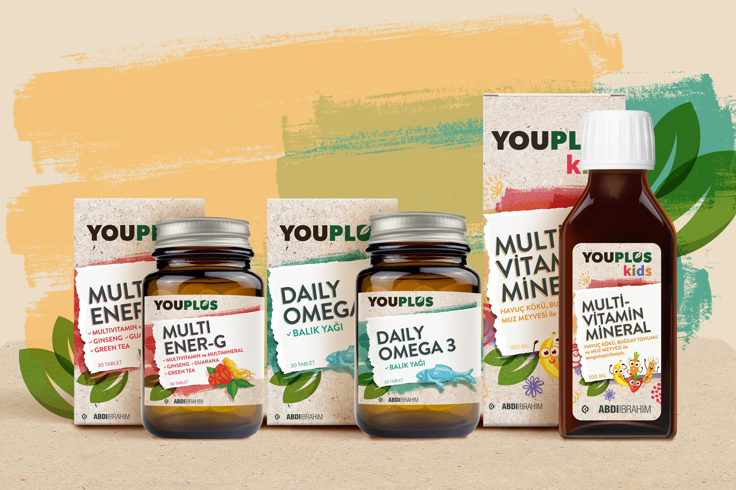 Youplus Packaging and Logo Design from Orhan Irmak Tasarim