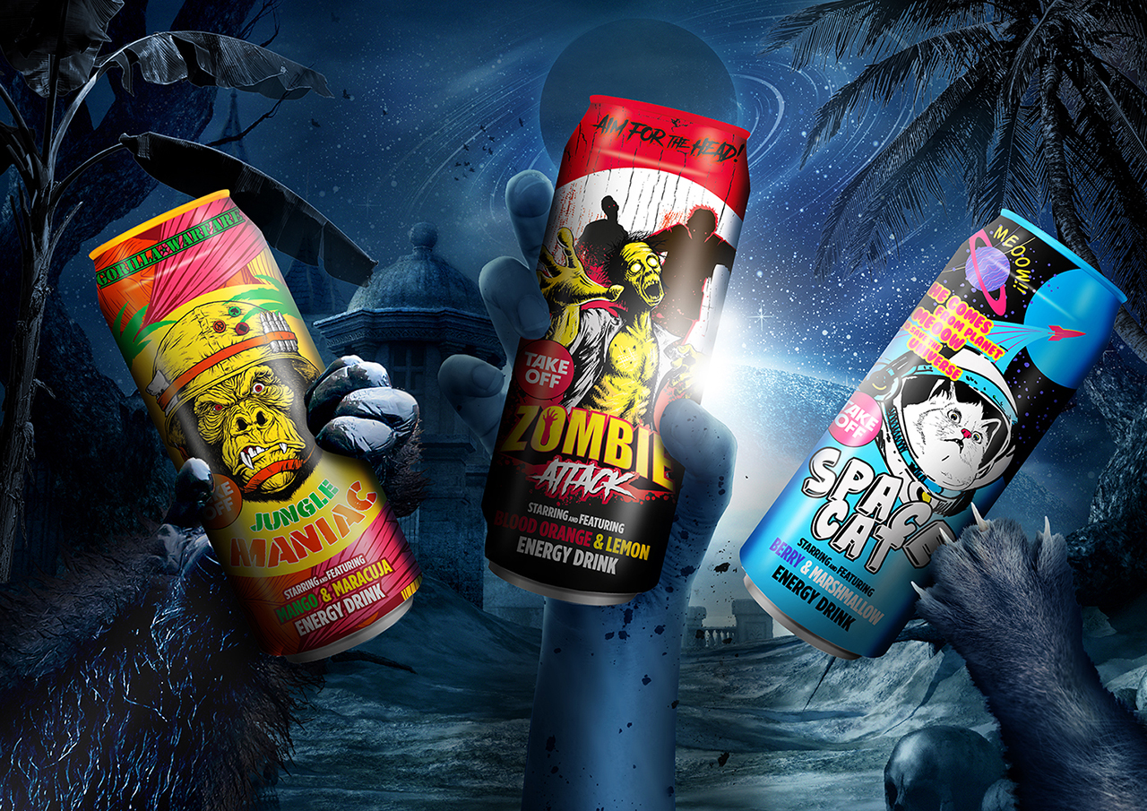 Storytelling Packaging Design for the Ultimate Energy Drink Experience