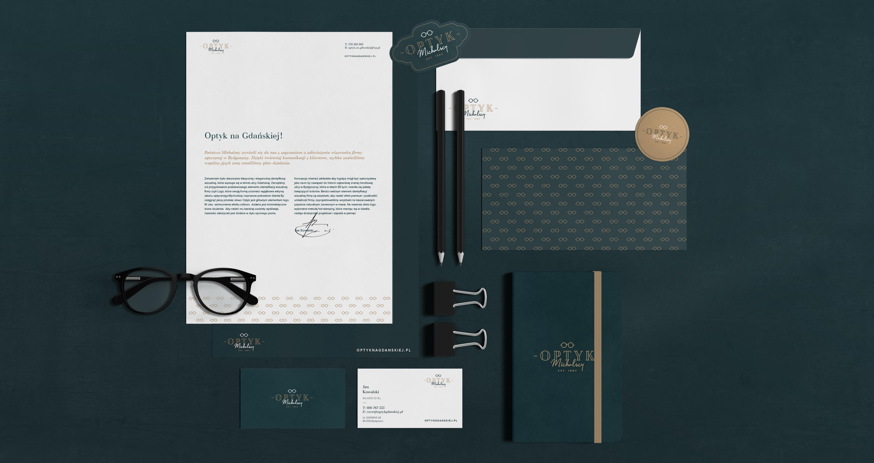 Belgrav Studio Refresh the Brand of Optyk Michalscy Optician