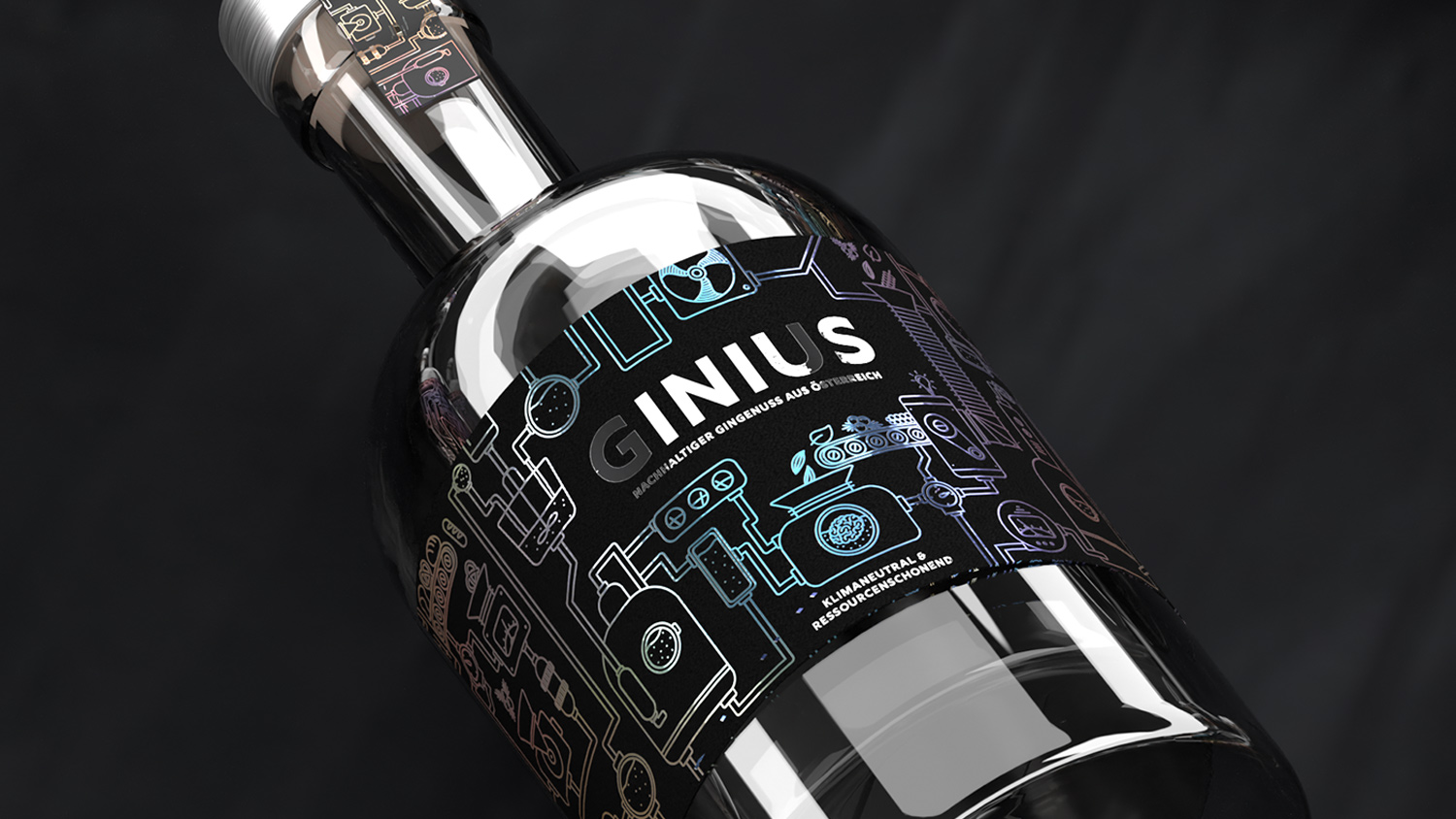 Packaging Design Concept for Genius, a Gin with a Very Special Production Process