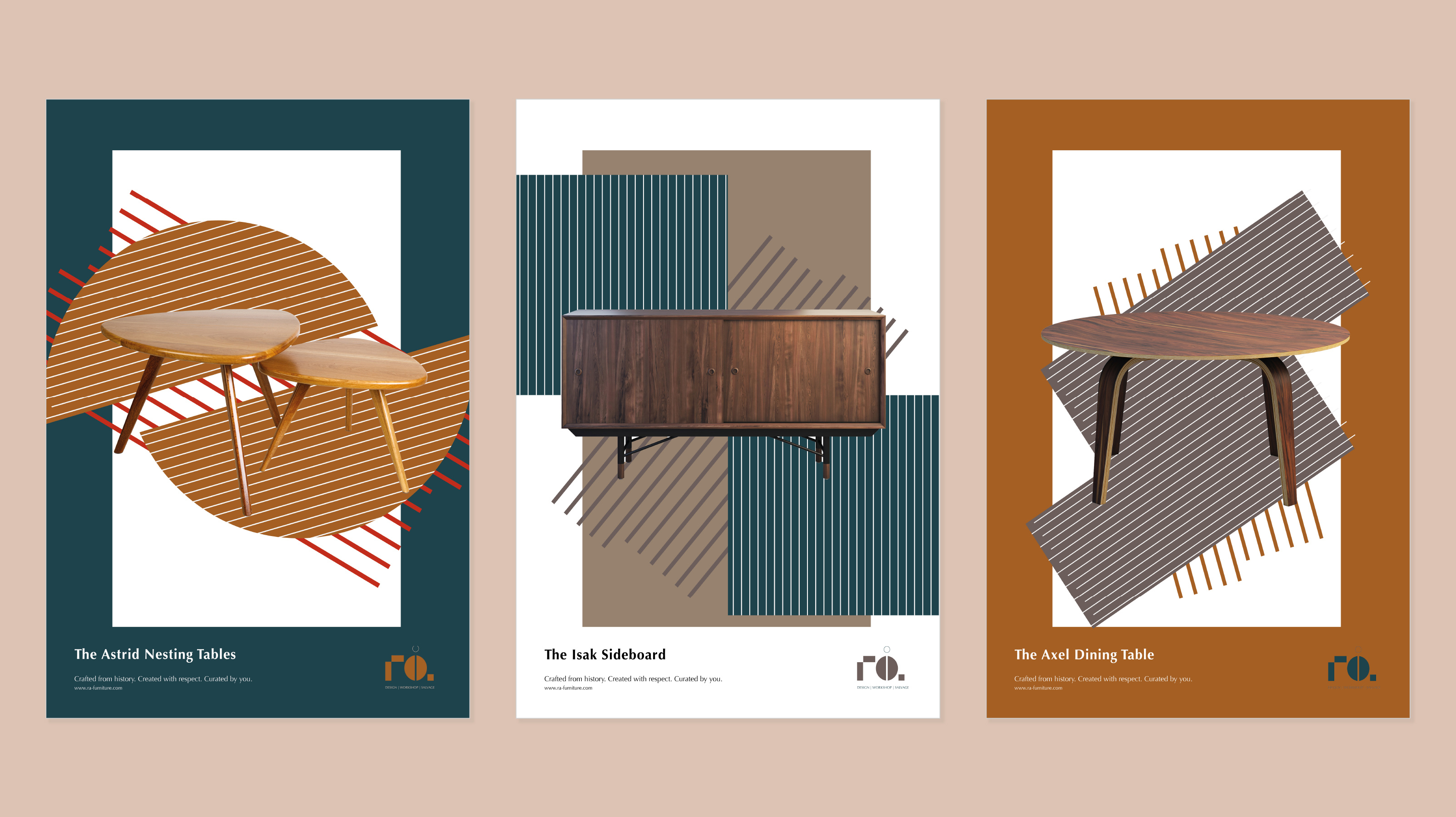 Rå Furniture Brand and Identity Design by Krista Kay Design