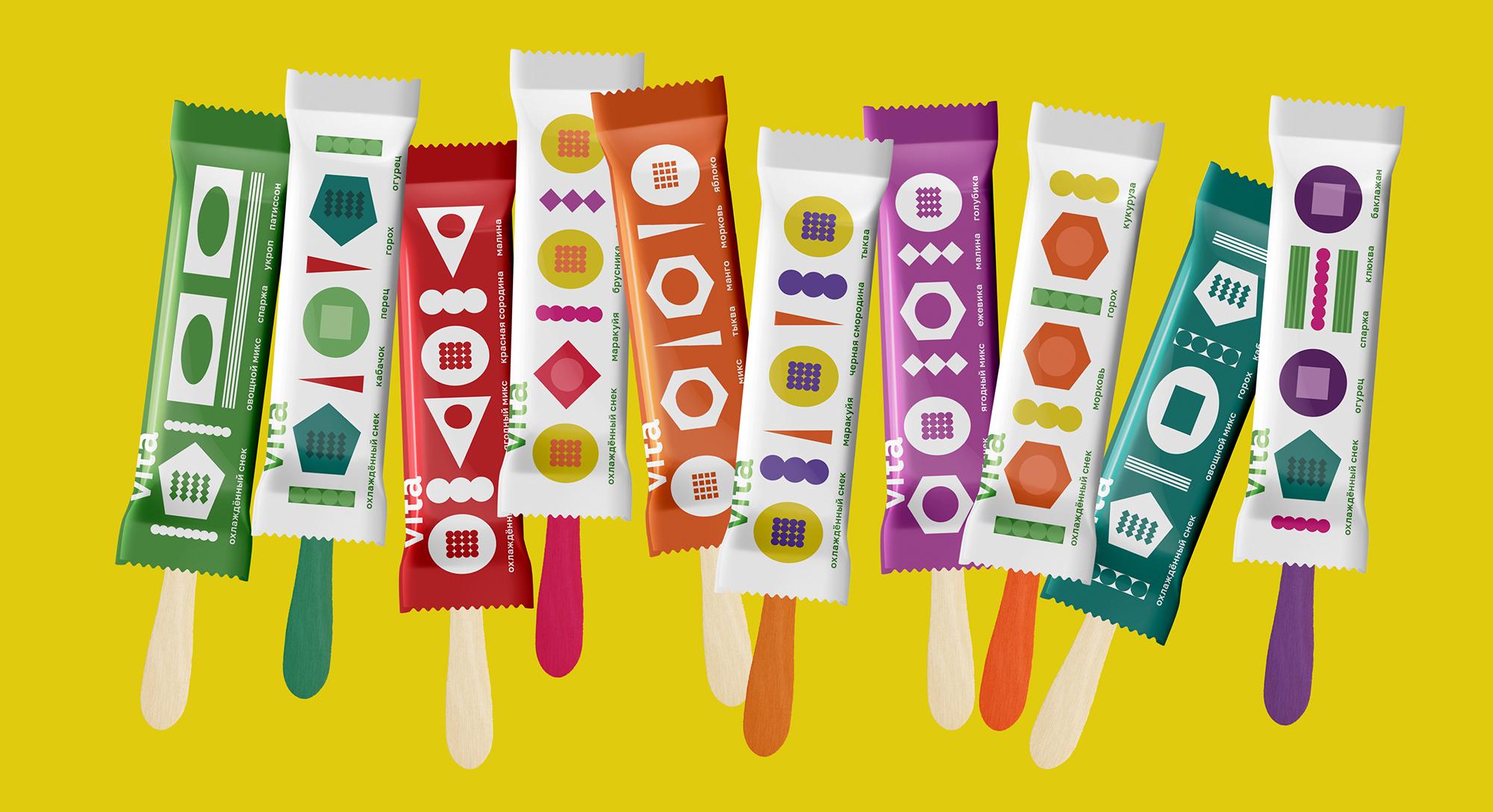 Packaging Brand Design for Vita Fruit and Vegetable Snacks by Ekaterina Torokhova