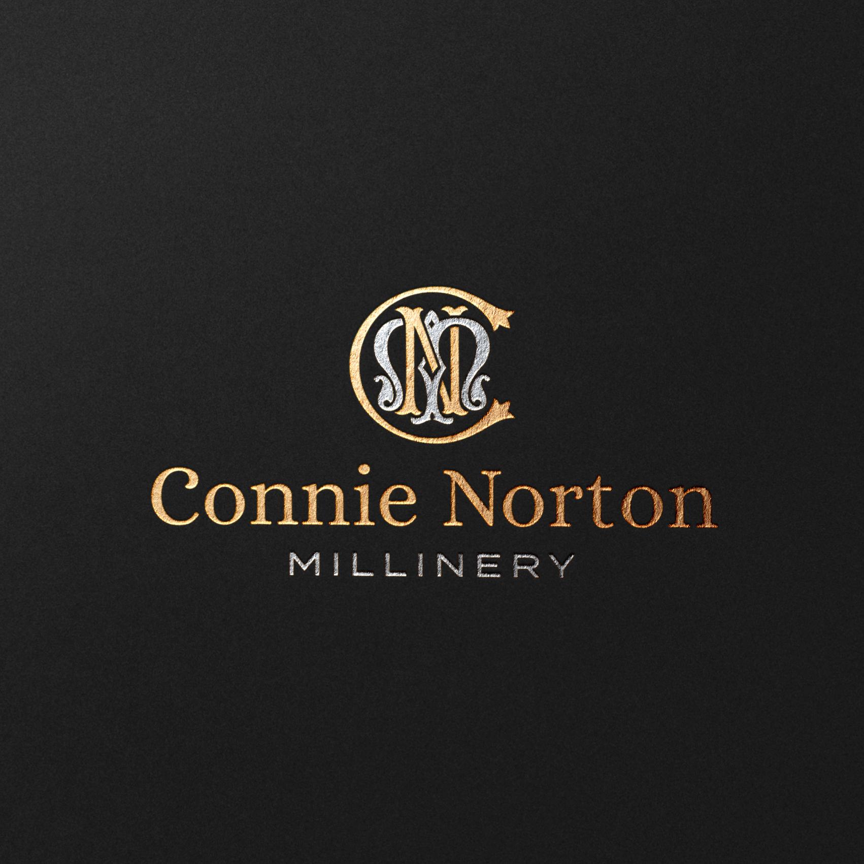 C N Millinery Luxury Wedding Hat Branding and Logo Design by MK Creative