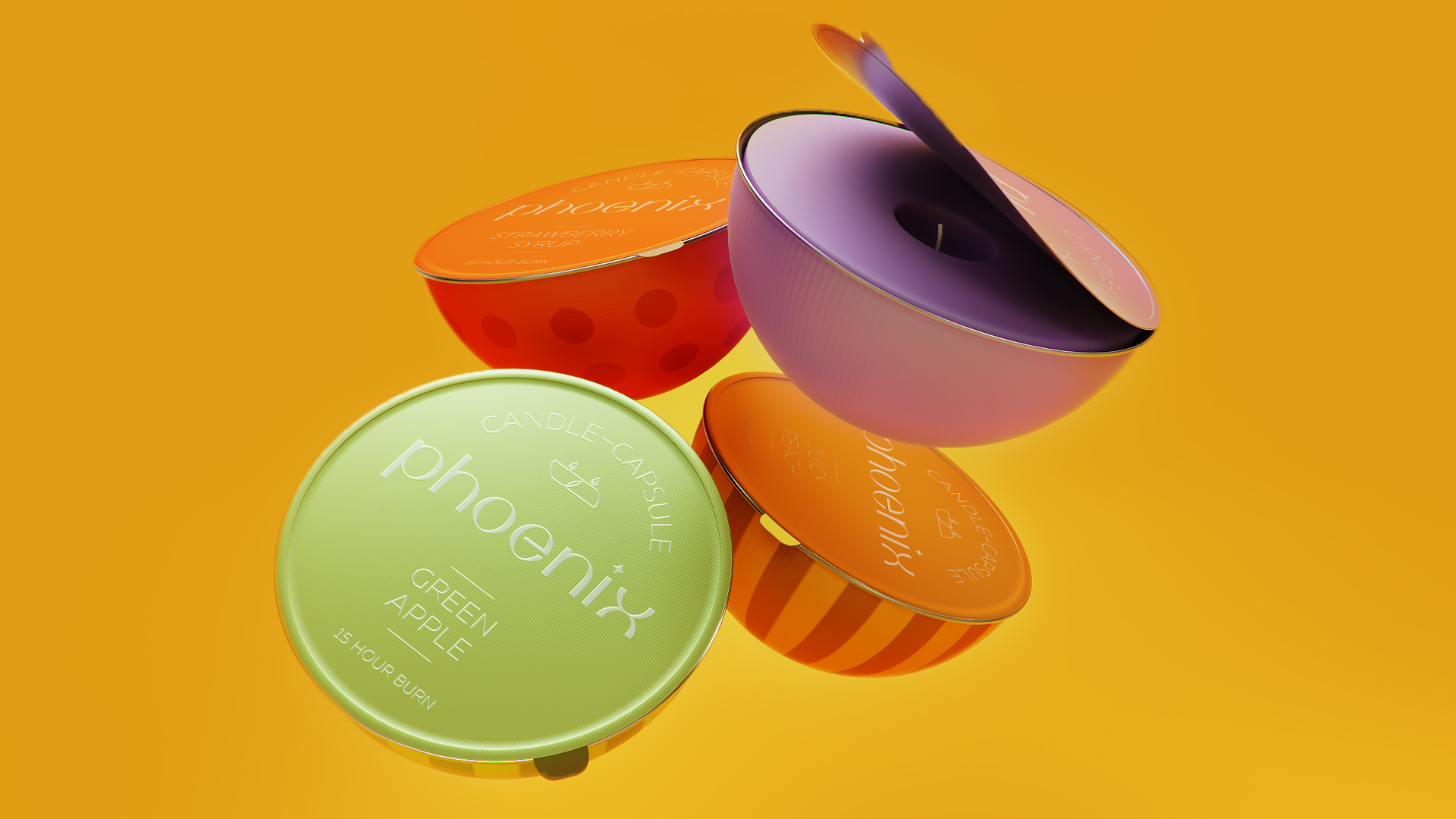 """Concept Packaging Design for Candles-Capsules """"Phoenix"""""""
