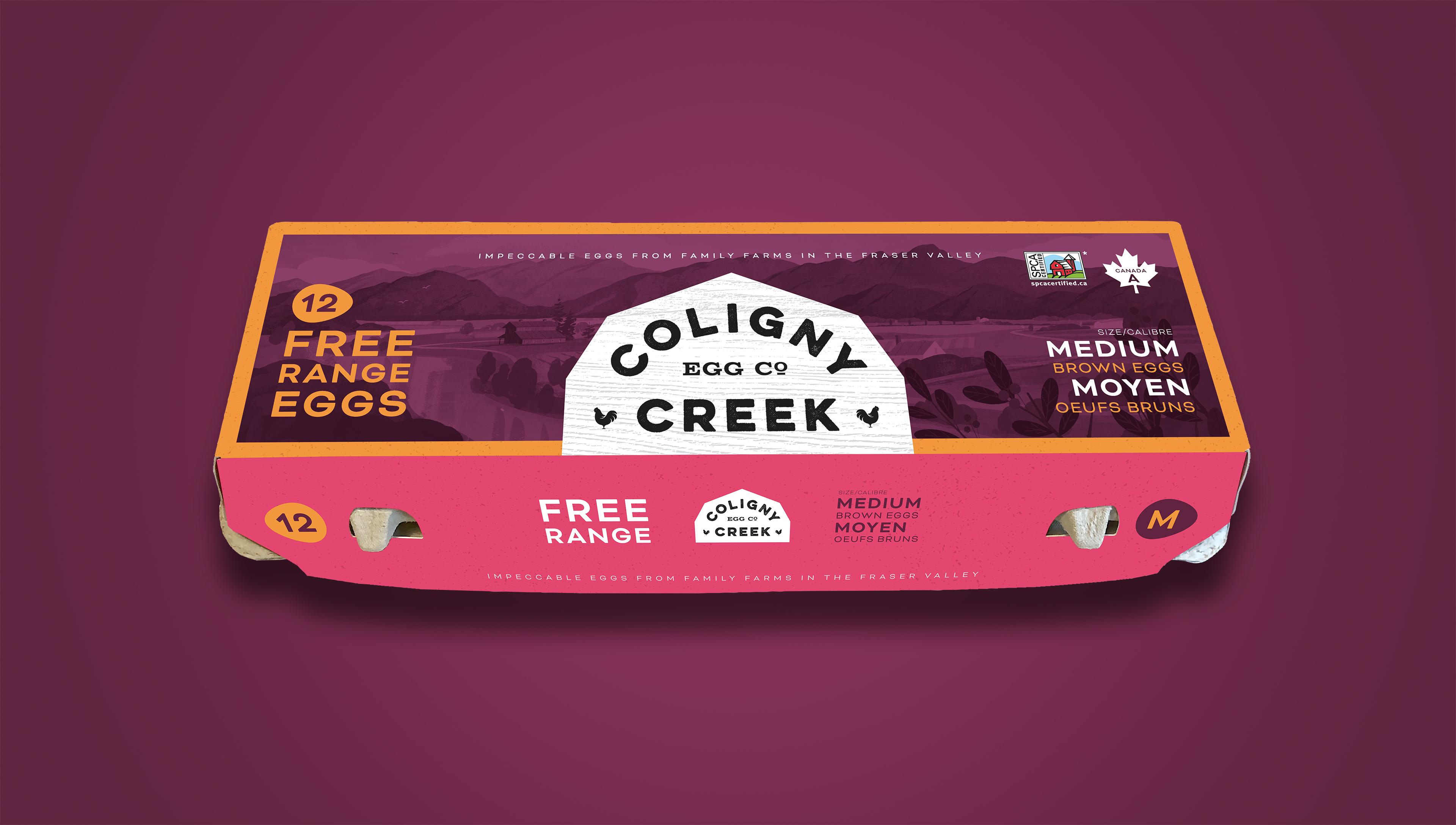 Dan O'Leary Design Branding and Packaging Design for Coligny Creek Egg Co.