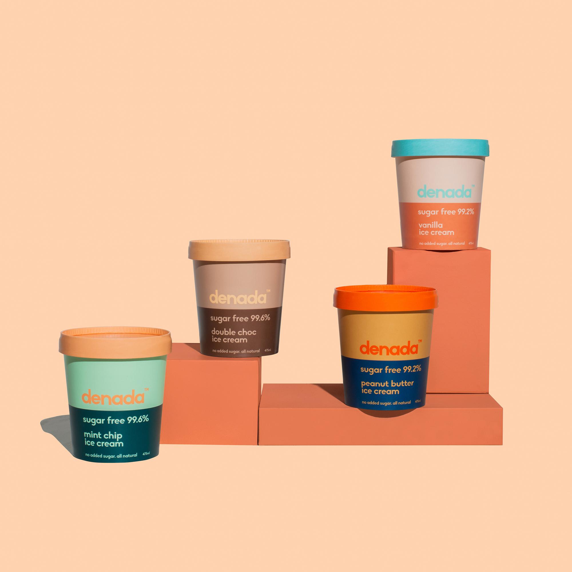 Jo Cutri Studio Create Brand Identity and Packaging Design for Denada Sugar Free Ice Cream