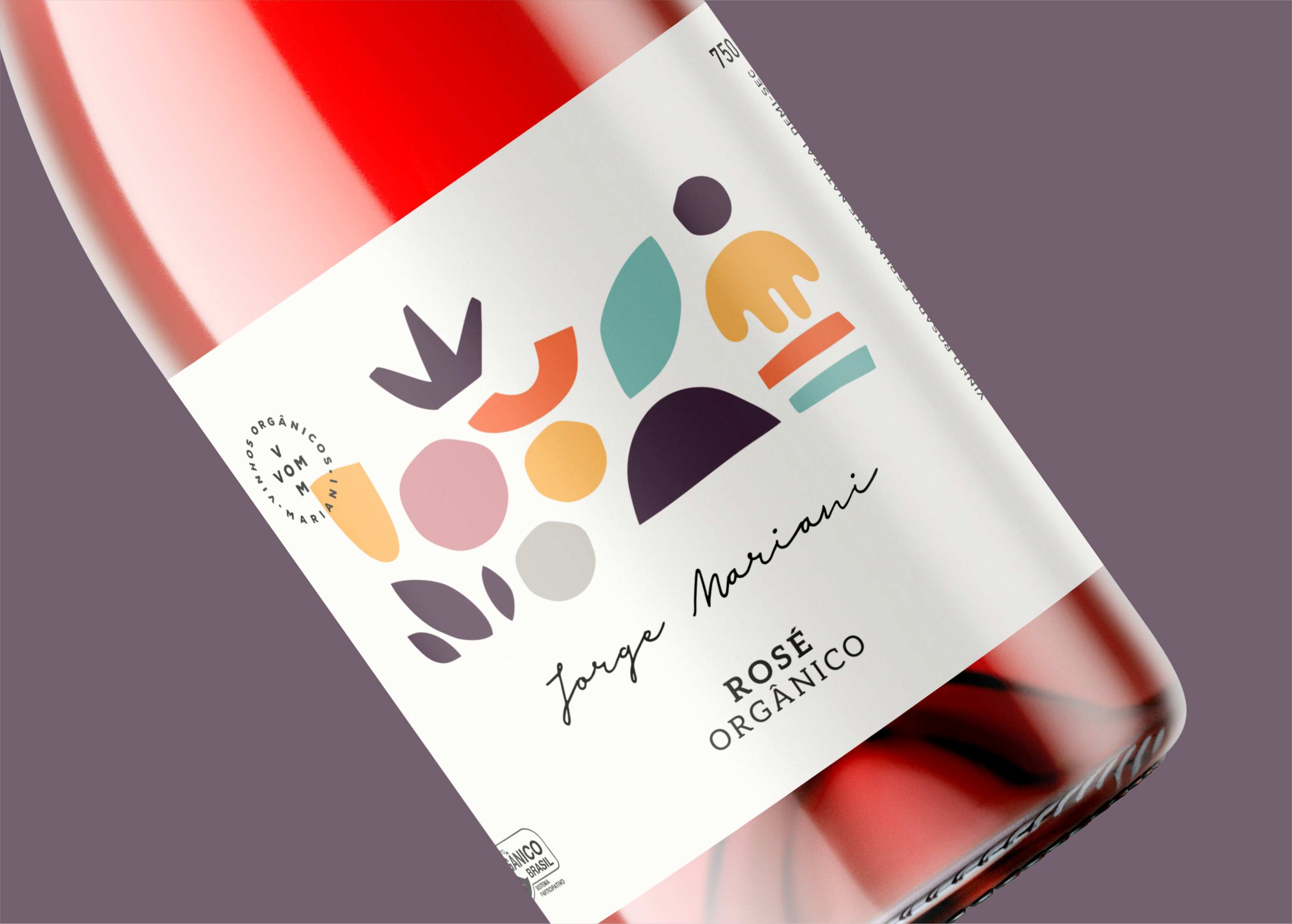 Rosé Organic Wine Designed by RPD Design