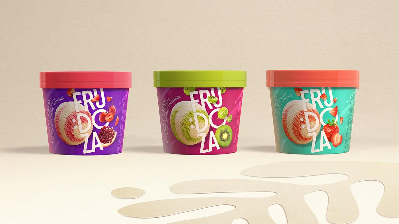 Brama Branding Creates Bold New Look for Frudoza Ice Cream