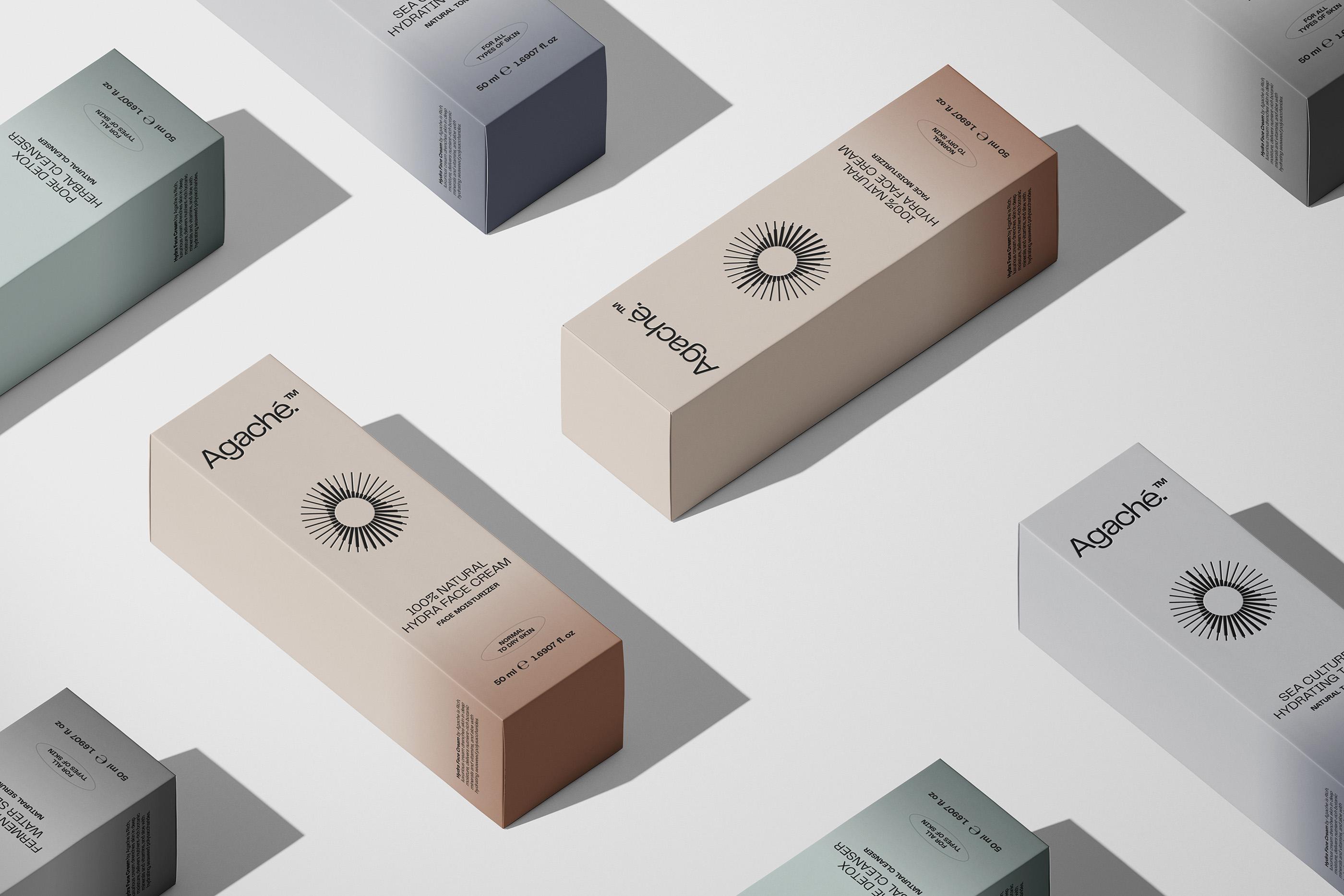 Alphamark Designs New Brand Identity System for Agache Skincare