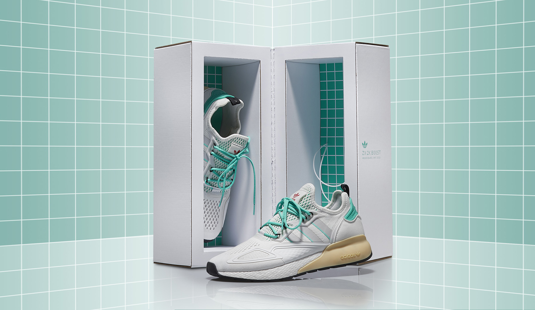 Adidas Originals ZX 2K BOOST Packaging Design by Hovers Over Water