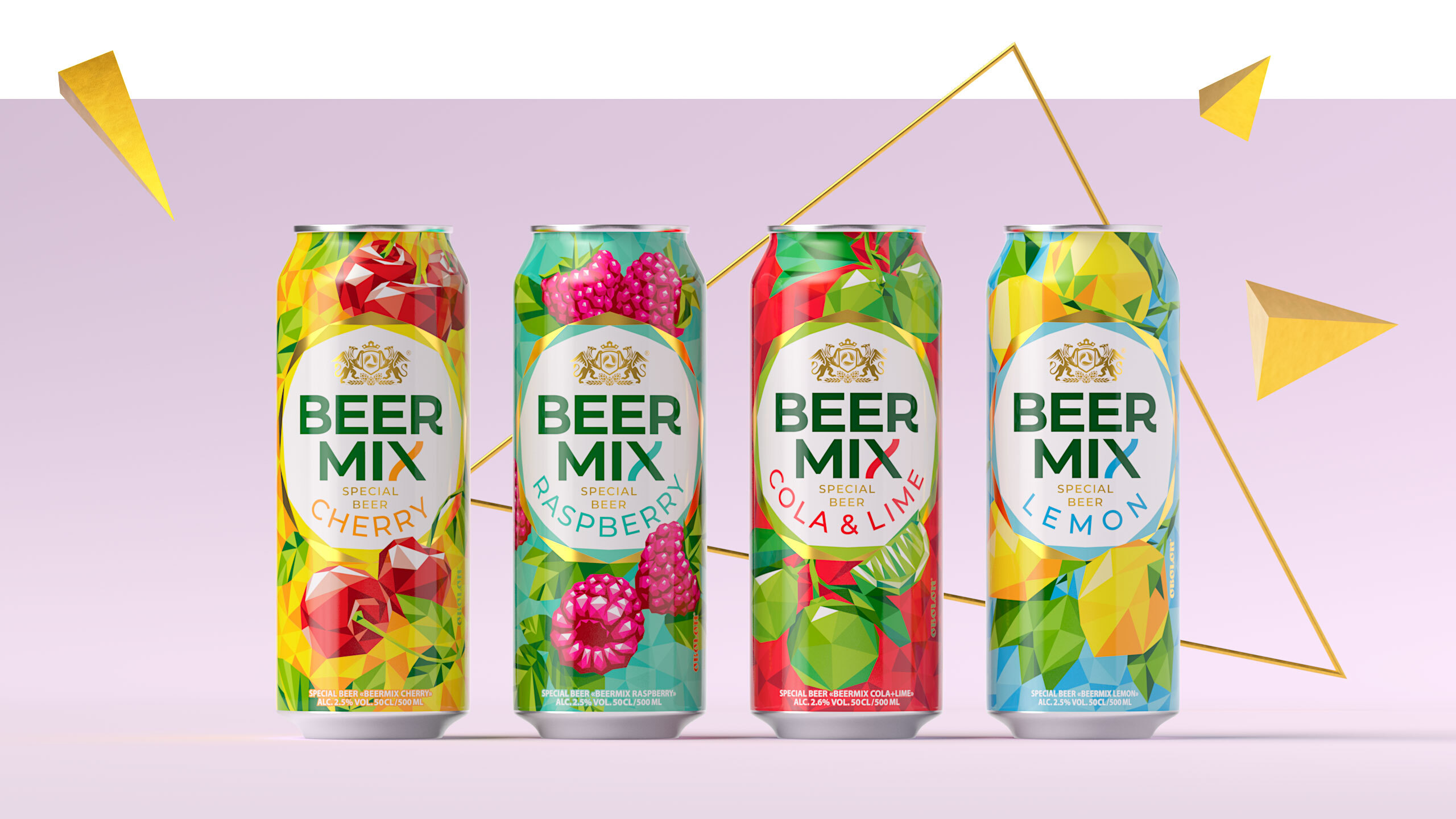 Dozen Agency Relaunch of Brand and Packaging for the Obolon's Beermix Brand