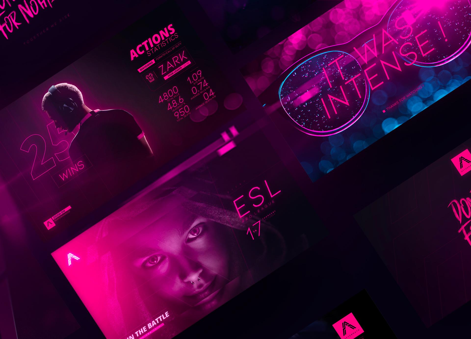 Phiraum Leng Creates Esport Team Branding Inspired by Cyberpunk