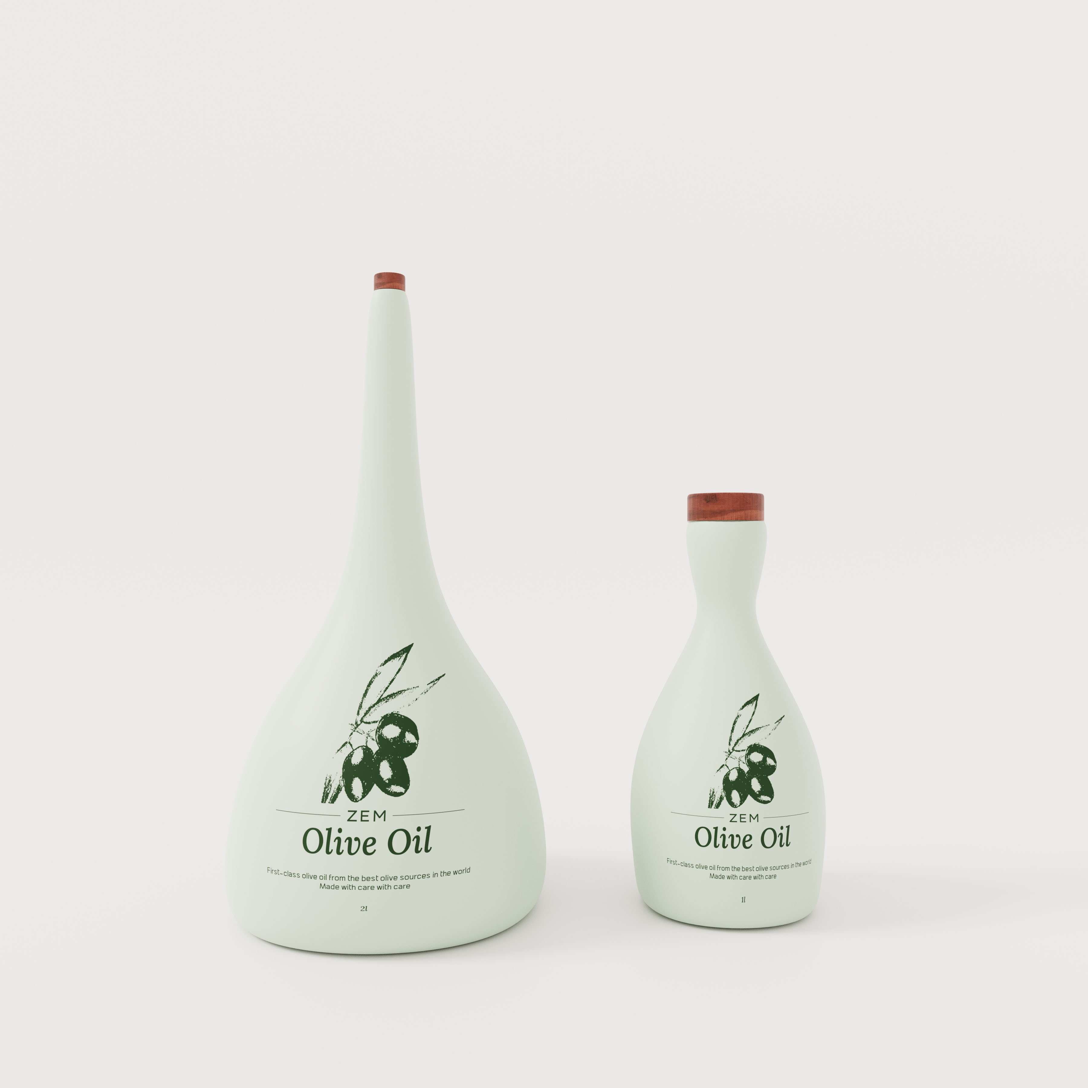 Zem Olive Oil Packaging Design by ORPETRON