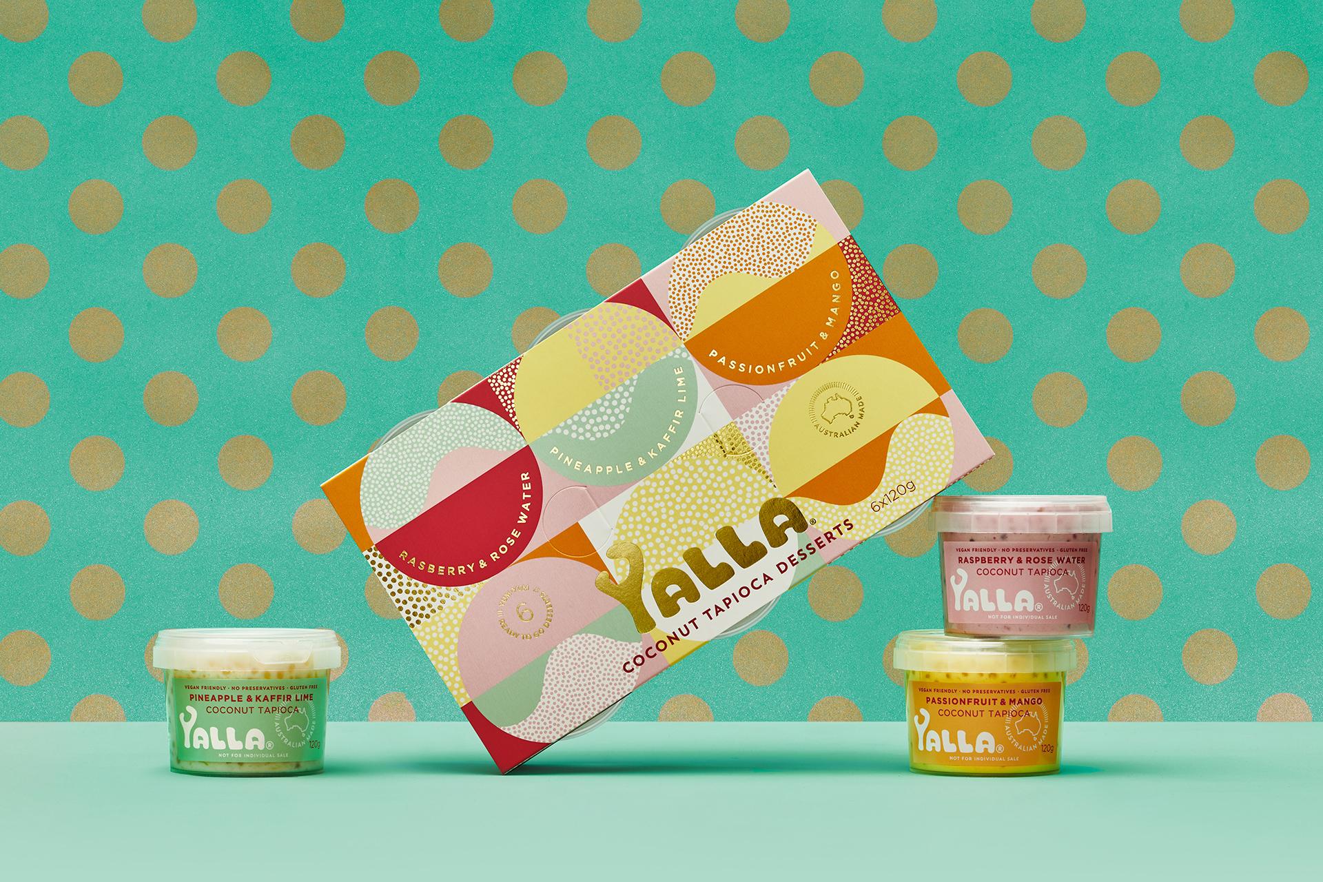 Yalla Premium Coconut Tapioca Desserts Branding Designed by Harcus Design