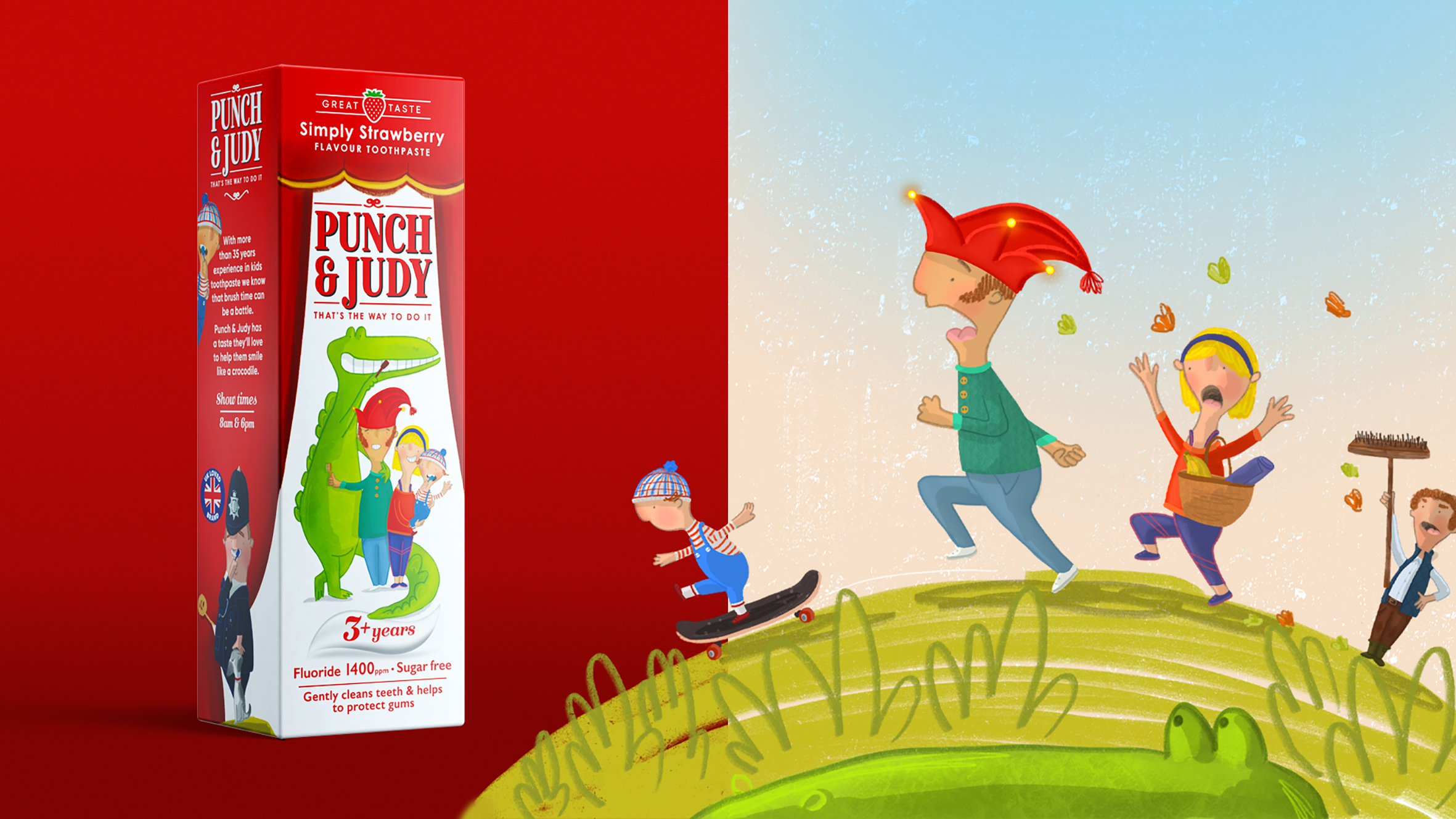Punch & Judy Children's Toothpaste Rebrand Created by Free The Birds