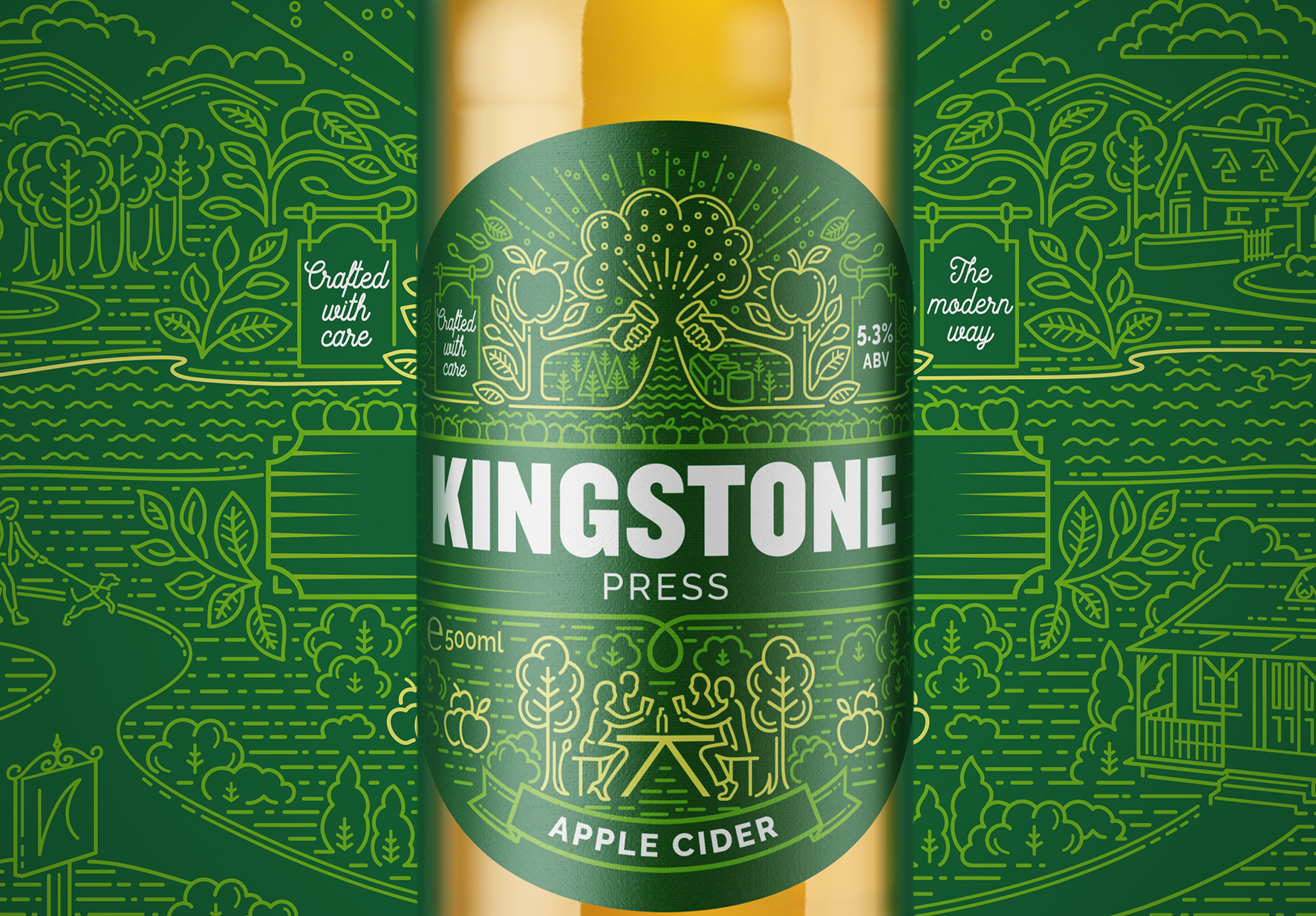 Kingstone Press Cider Rebrand by Pencil Studio